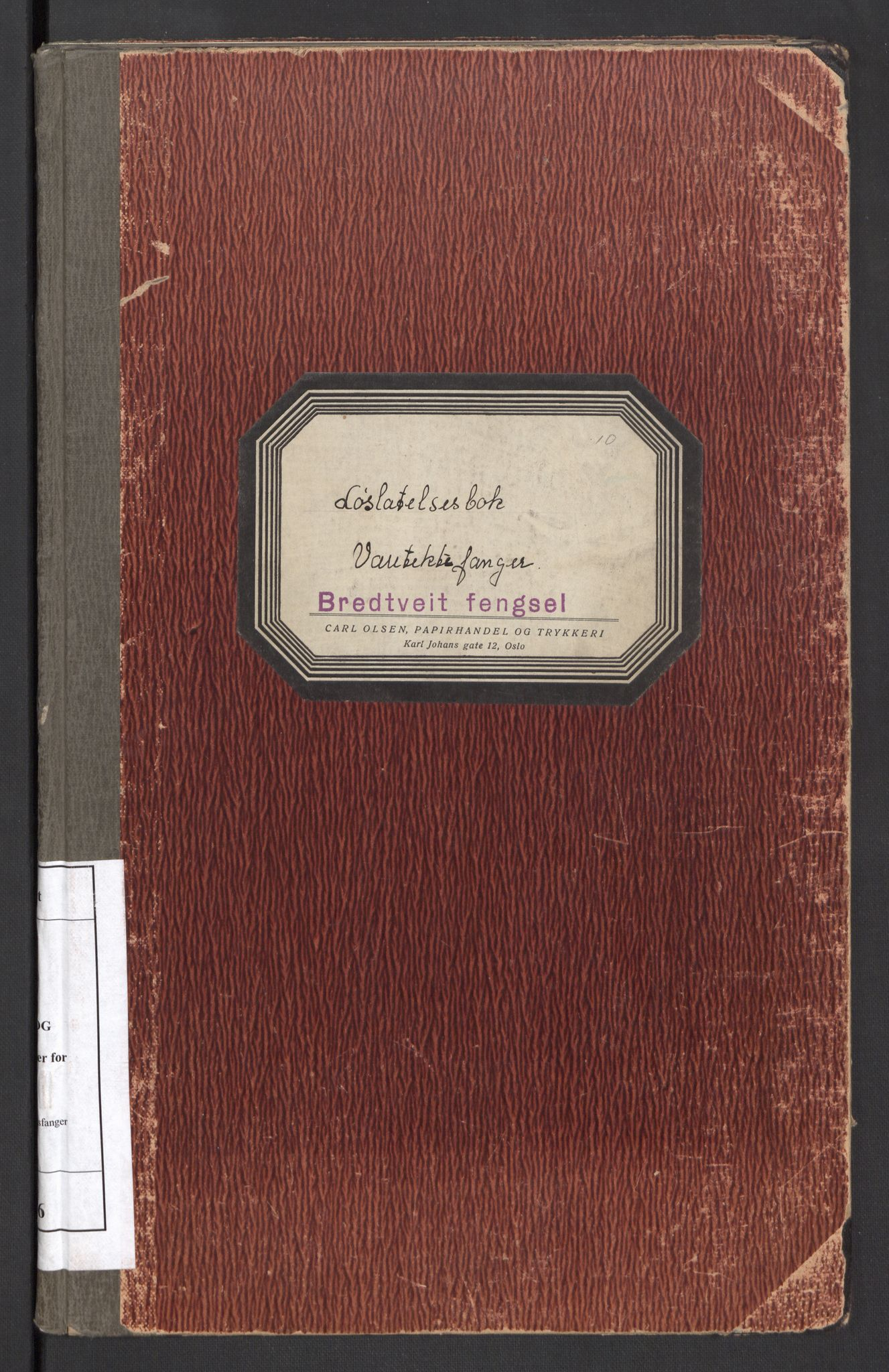 RA, Statspolitiet - Hovedkontoret / Osloavdelingen, C/Cl/L0006: Løslatelsesboks - varetektsfanger, 1941-1943