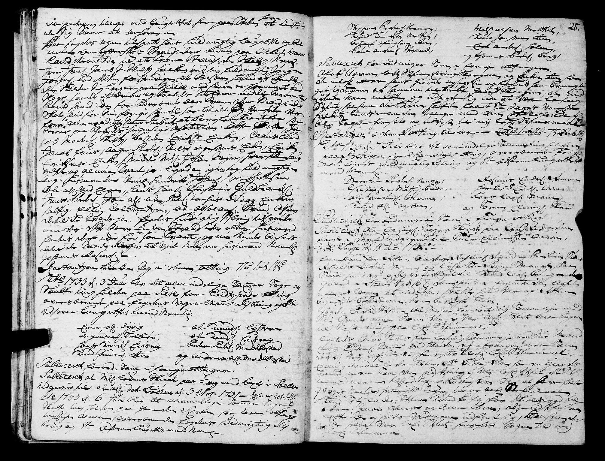 SAT, Romsdal sorenskriveri, 1/1A/L0011: Tingbok, 1732-1740, p. 27b-28a