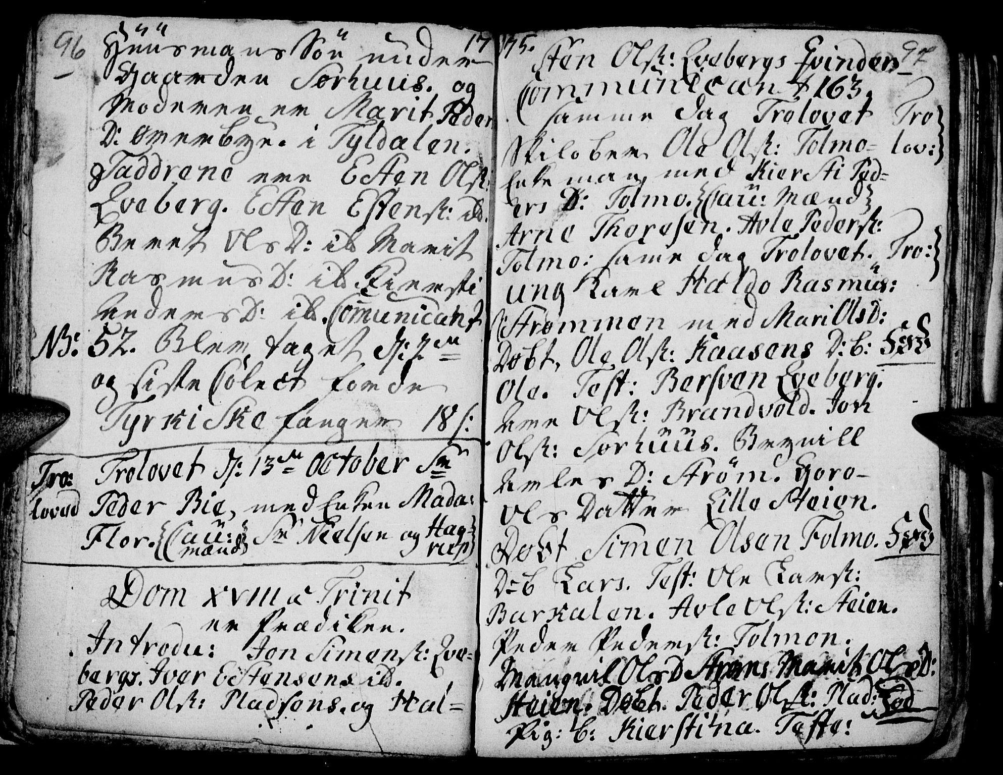 SAH, Tynset prestekontor, Parish register (official) no. 9, 1769-1781, p. 96-97