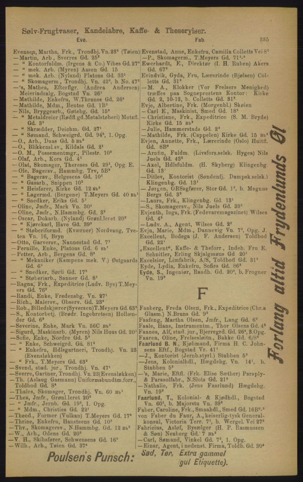 PUBL, Kristiania/Oslo adressebok, 1906, p. 335