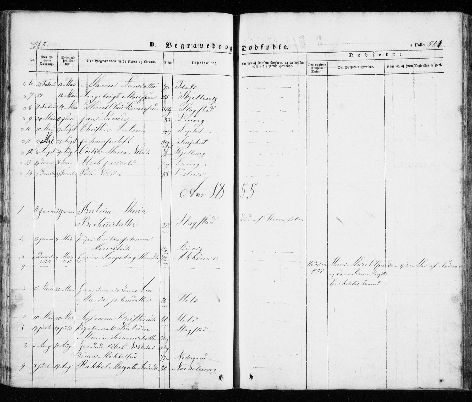 SATØ, Trondenes sokneprestkontor, H/Ha/L0010kirke: Parish register (official) no. 10, 1840-1865, p. 565-566