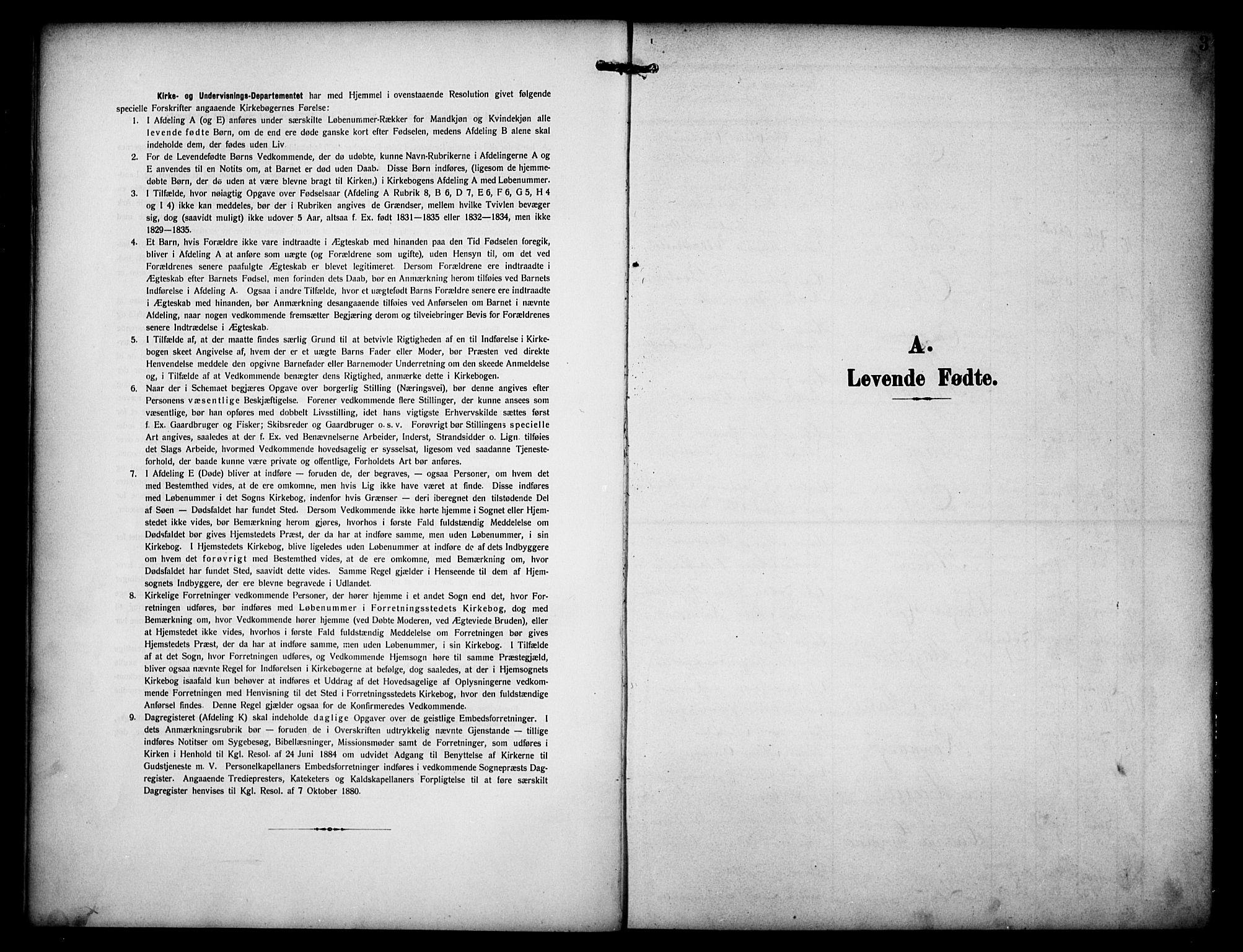 SAH, Dovre prestekontor, Parish register (copy) no. 3, 1907-1929