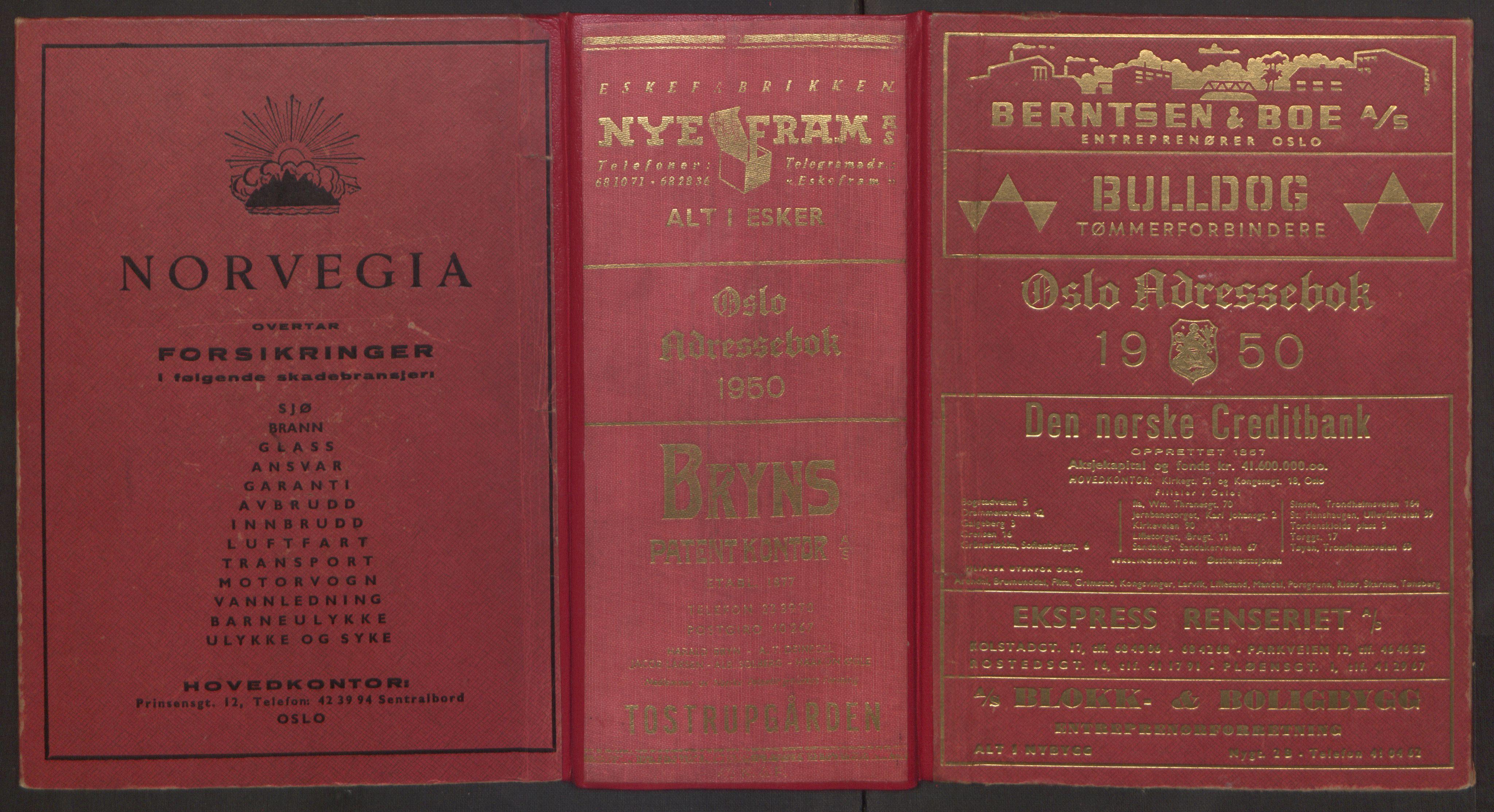 PUBL, Kristiania/Oslo adressebok, 1950