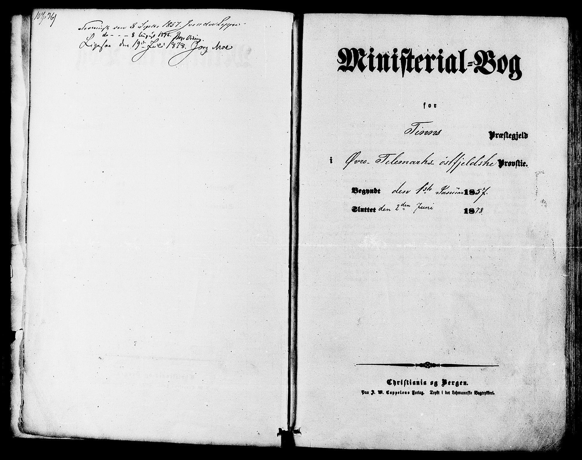 SAKO, Tinn kirkebøker, F/Fa/L0006: Parish register (official) no. I 6, 1857-1878