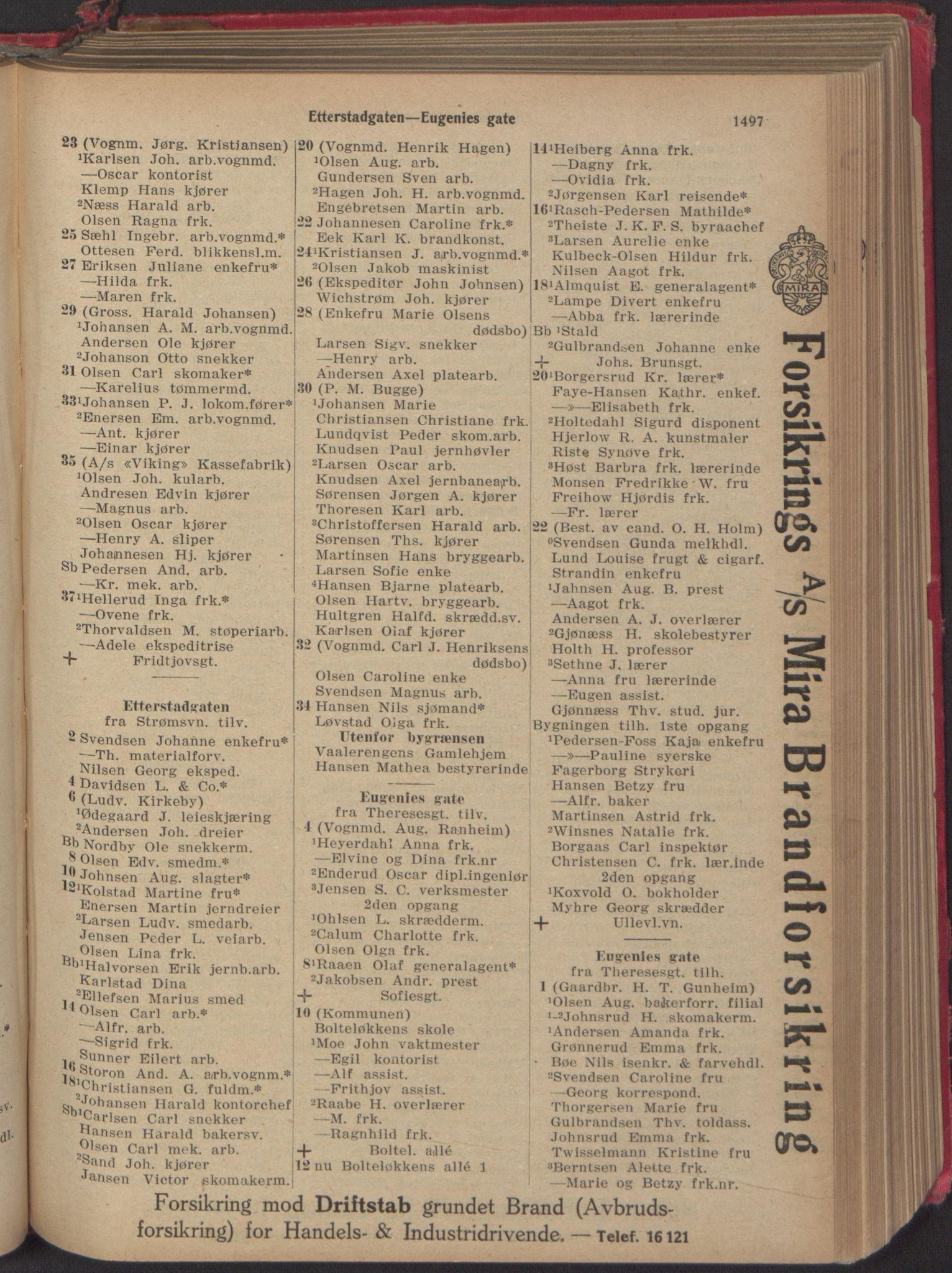 PUBL, Kristiania/Oslo adressebok, 1918, p. 1650