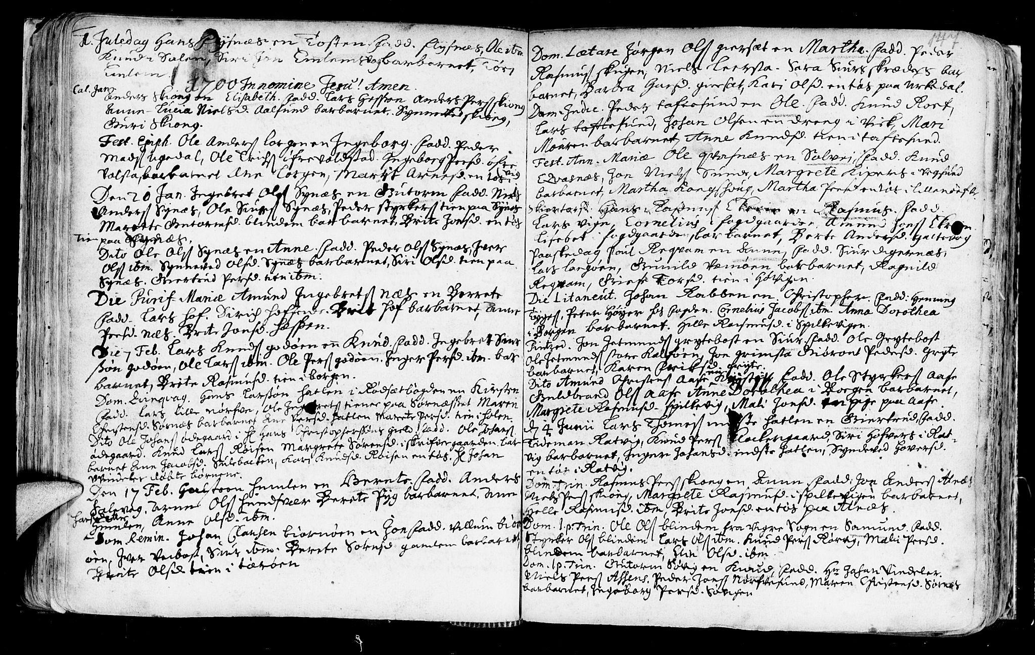 SAT, Ministerialprotokoller, klokkerbøker og fødselsregistre - Møre og Romsdal, 528/L0390: Parish register (official) no. 528A01, 1698-1739, p. 146-147