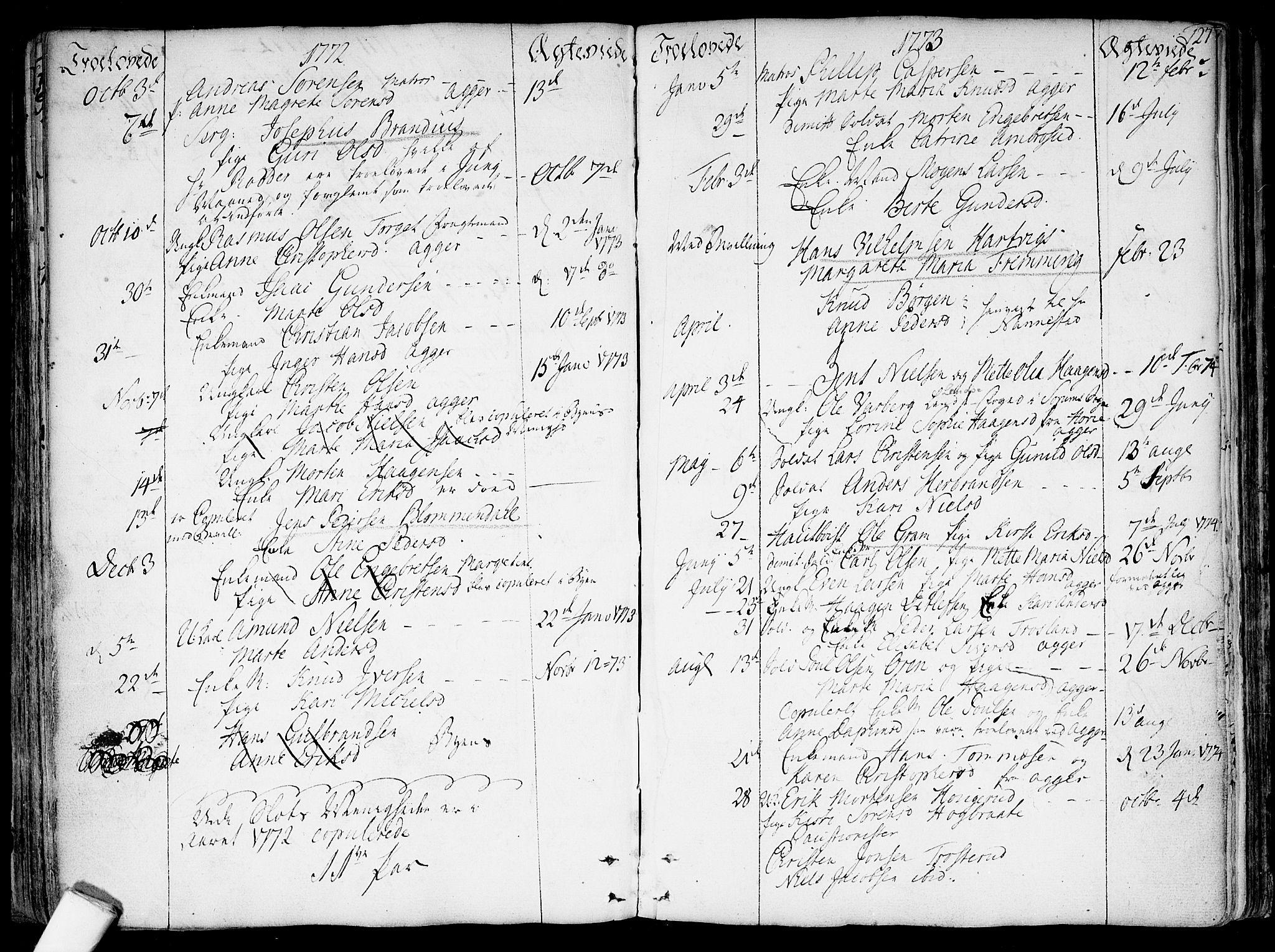 SAO, Garnisonsmenigheten Kirkebøker, F/Fa/L0002: Parish register (official) no. 2, 1757-1776, p. 127