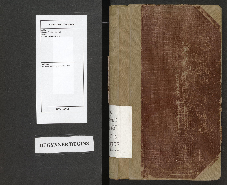 SAT, Norges Brannkasse Hol, BT/L0032: Branntakstprotokoll med tekst, 1954-1955