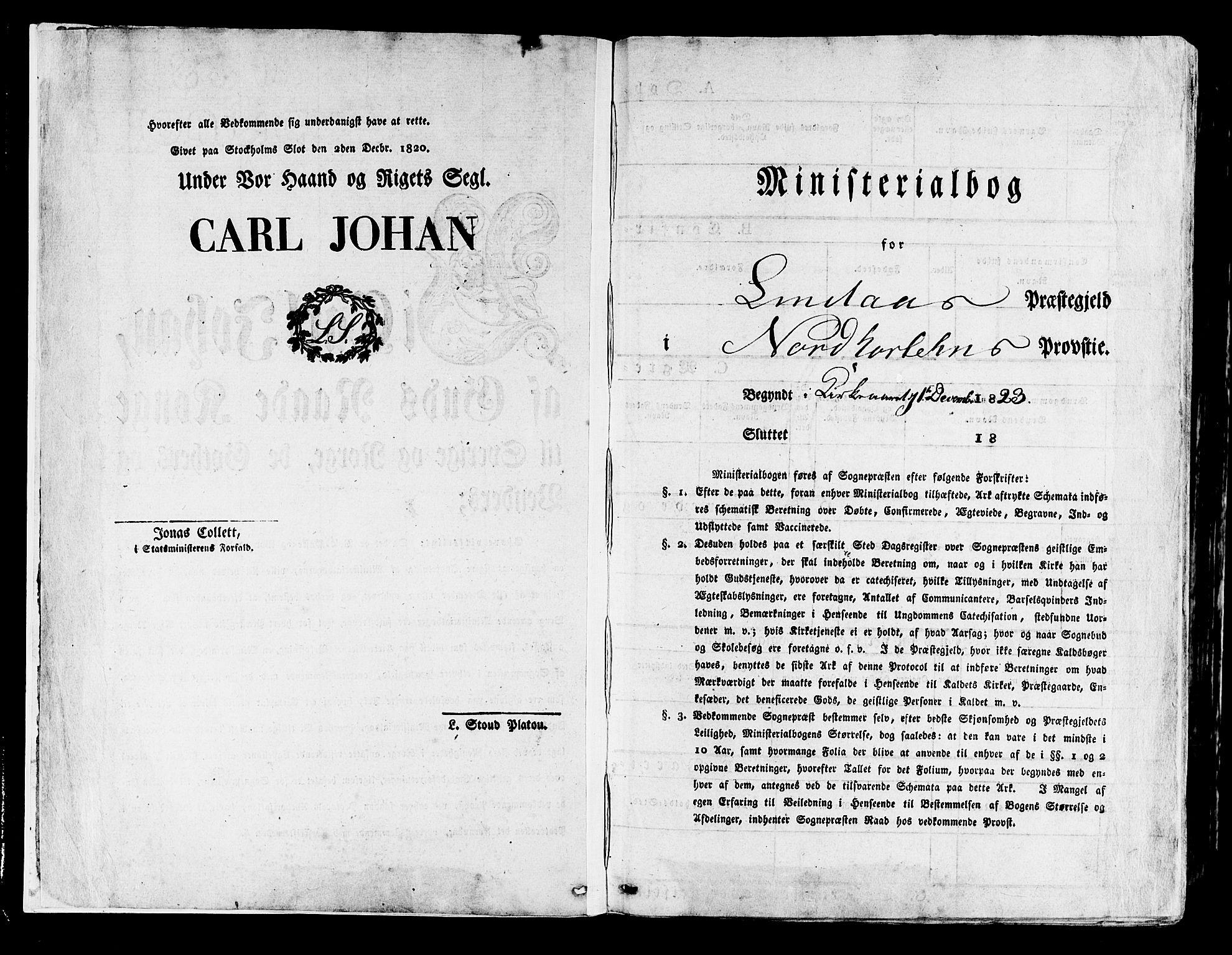 SAB, Lindås Sokneprestembete, H/Haa: Parish register (official) no. A 8, 1823-1836
