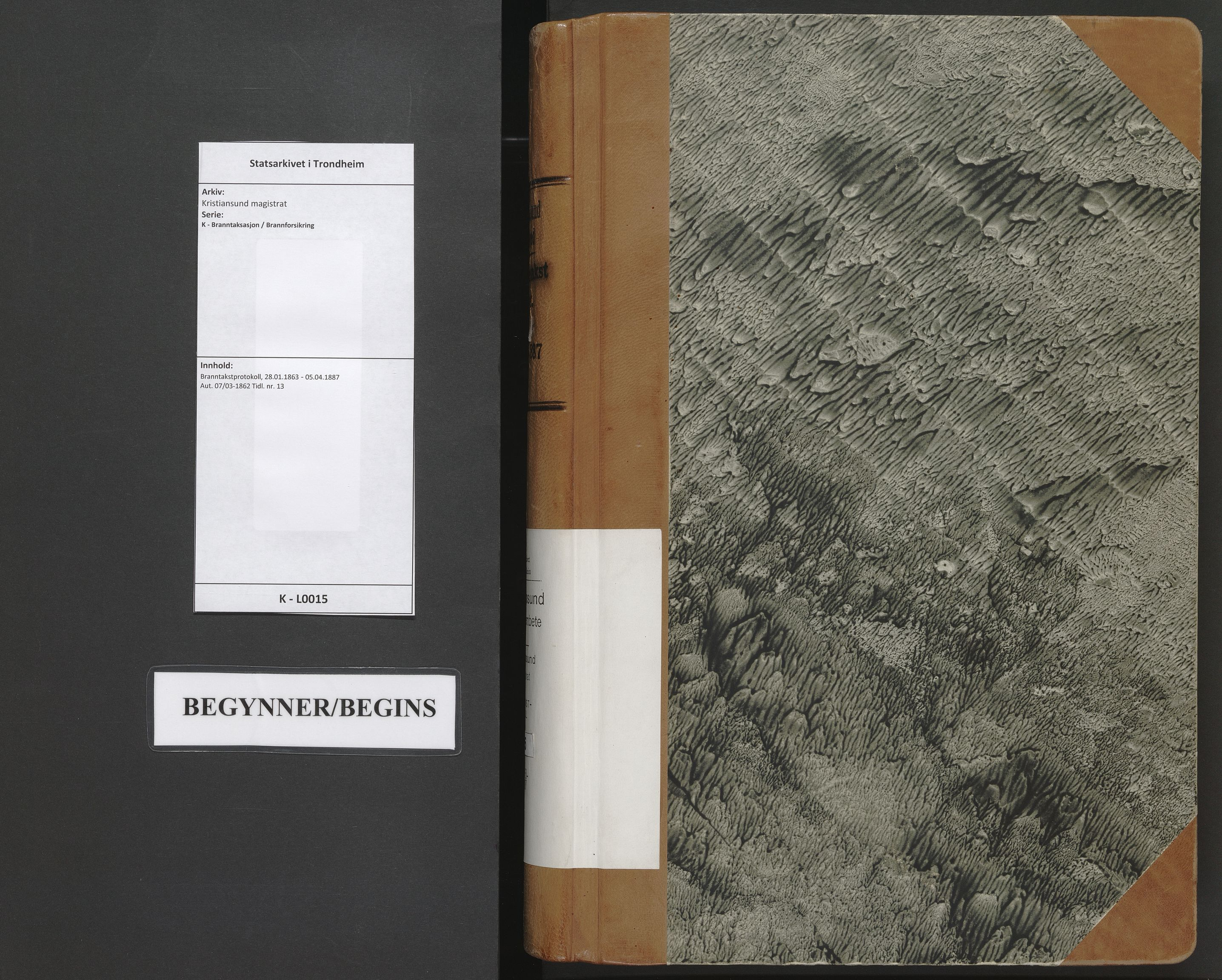 SAT, Kristiansund magistrat, K/L0015: Branntakstprotokoll, 1863-1887
