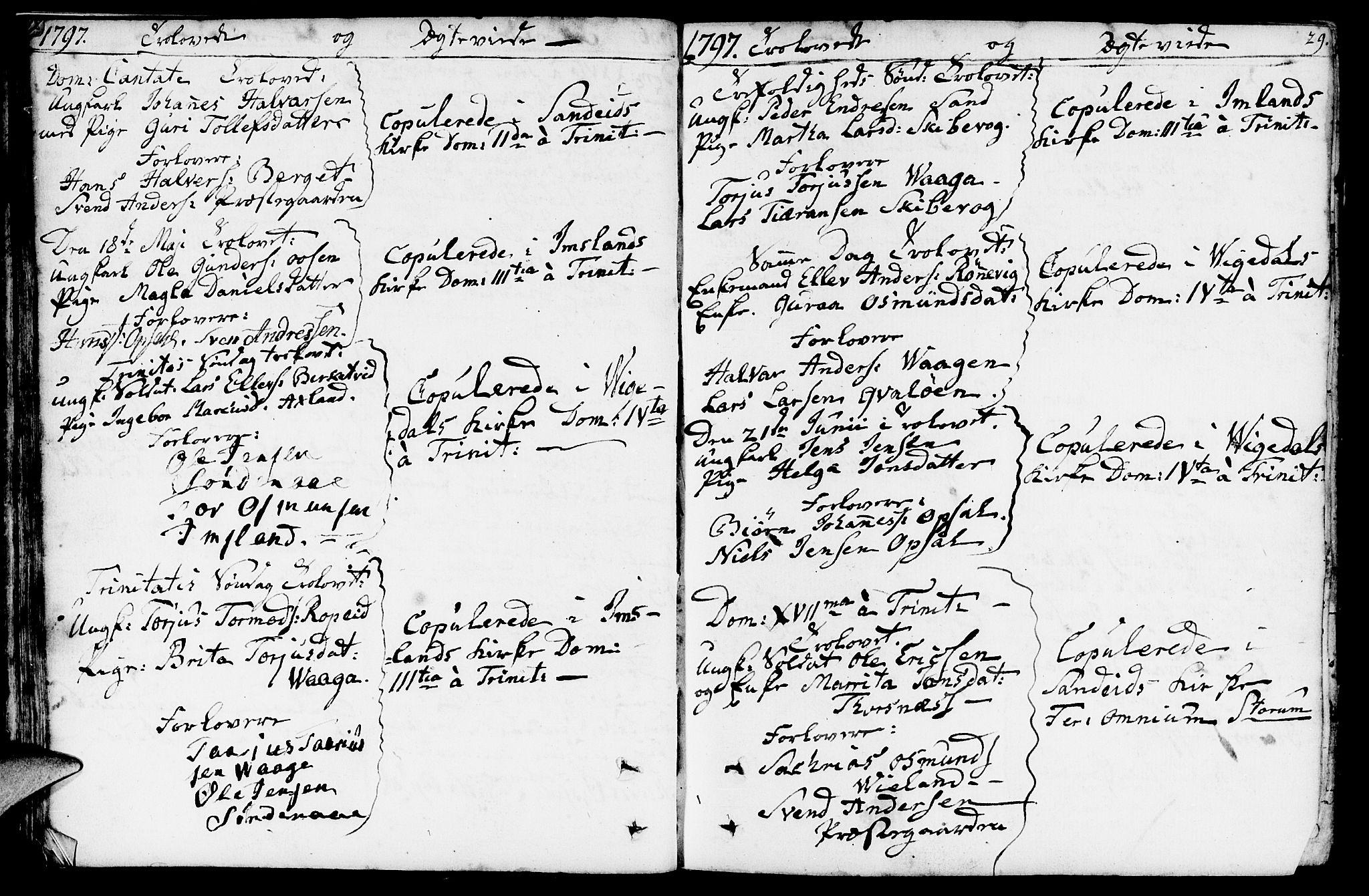 SAST, Vikedal sokneprestkontor, IV: Parish register (official) no. A 2, 1779-1817, p. 29