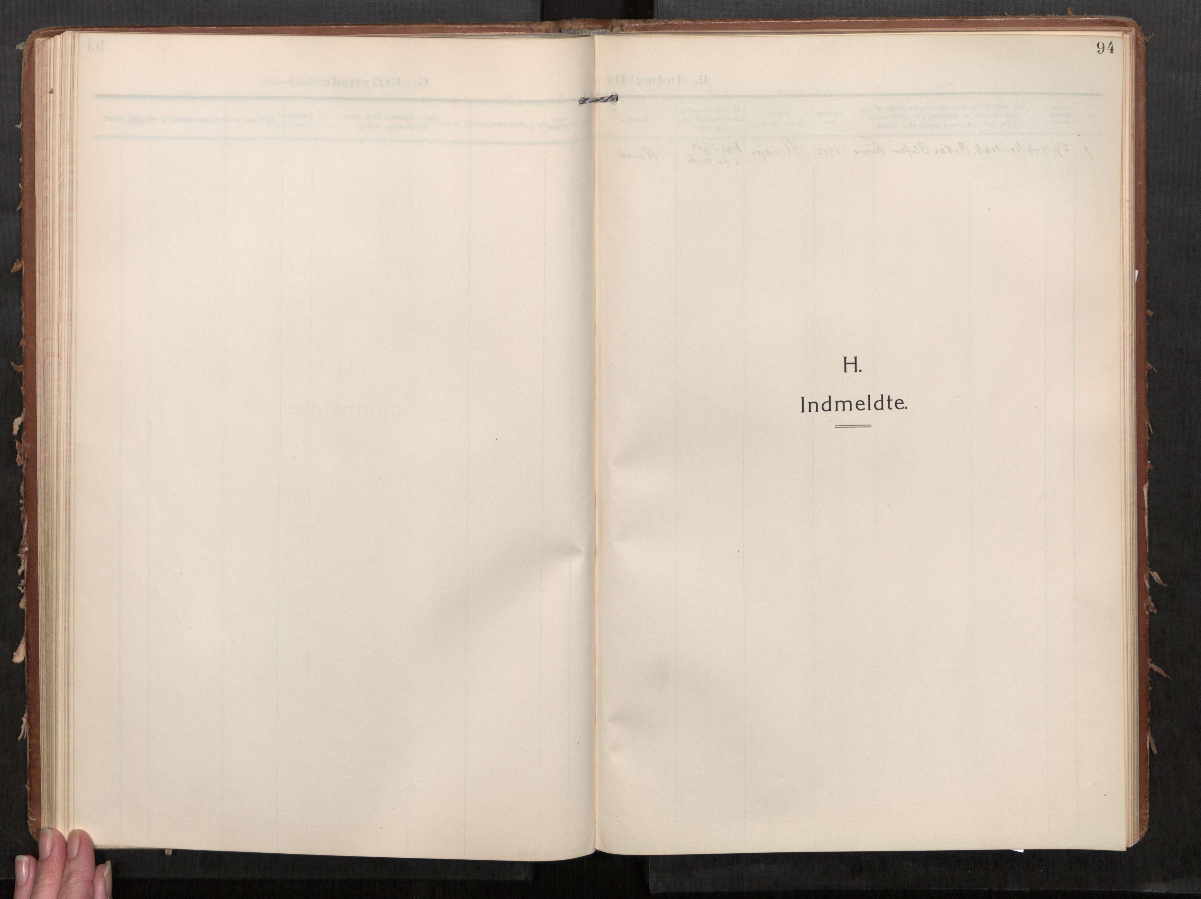SAT, Stod sokneprestkontor, I/I1/I1a/L0002: Parish register (official) no. 2, 1909-1922, p. 94