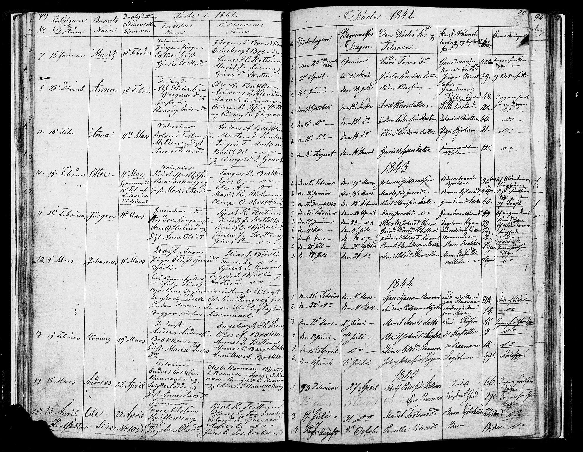 SAH, Lesja prestekontor, Parish register (copy) no. 4, 1842-1871, p. 79-80