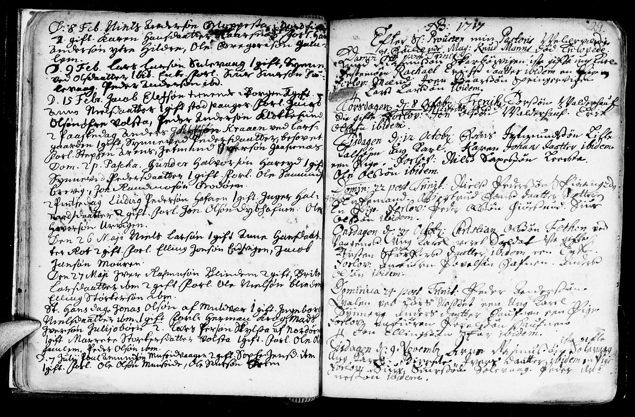 SAT, Ministerialprotokoller, klokkerbøker og fødselsregistre - Møre og Romsdal, 528/L0390: Parish register (official) no. 528A01, 1698-1739, p. 28-29