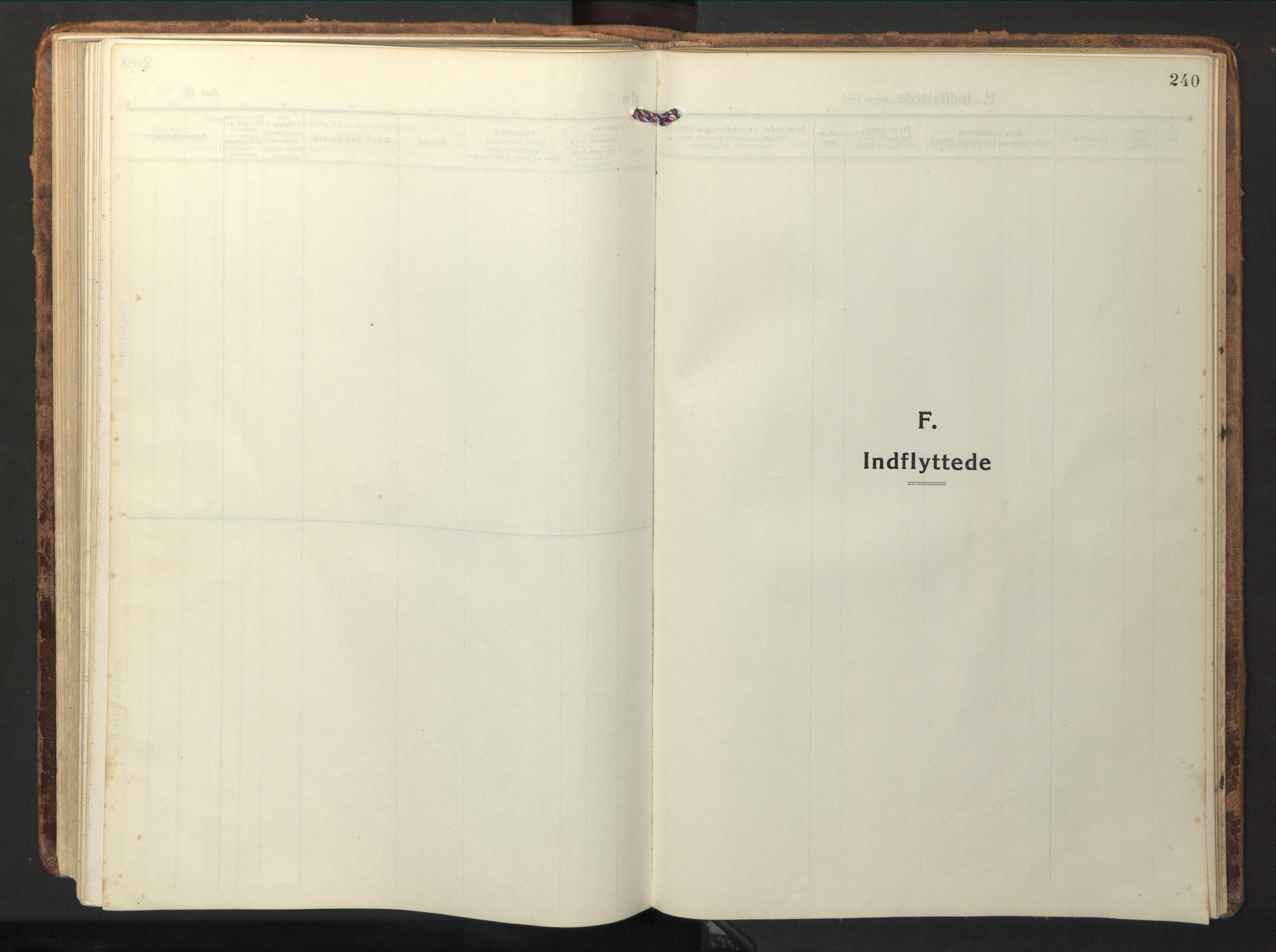 SAT, Ministerialprotokoller, klokkerbøker og fødselsregistre - Nord-Trøndelag, 714/L0136: Parish register (copy) no. 714C05, 1918-1957, p. 240