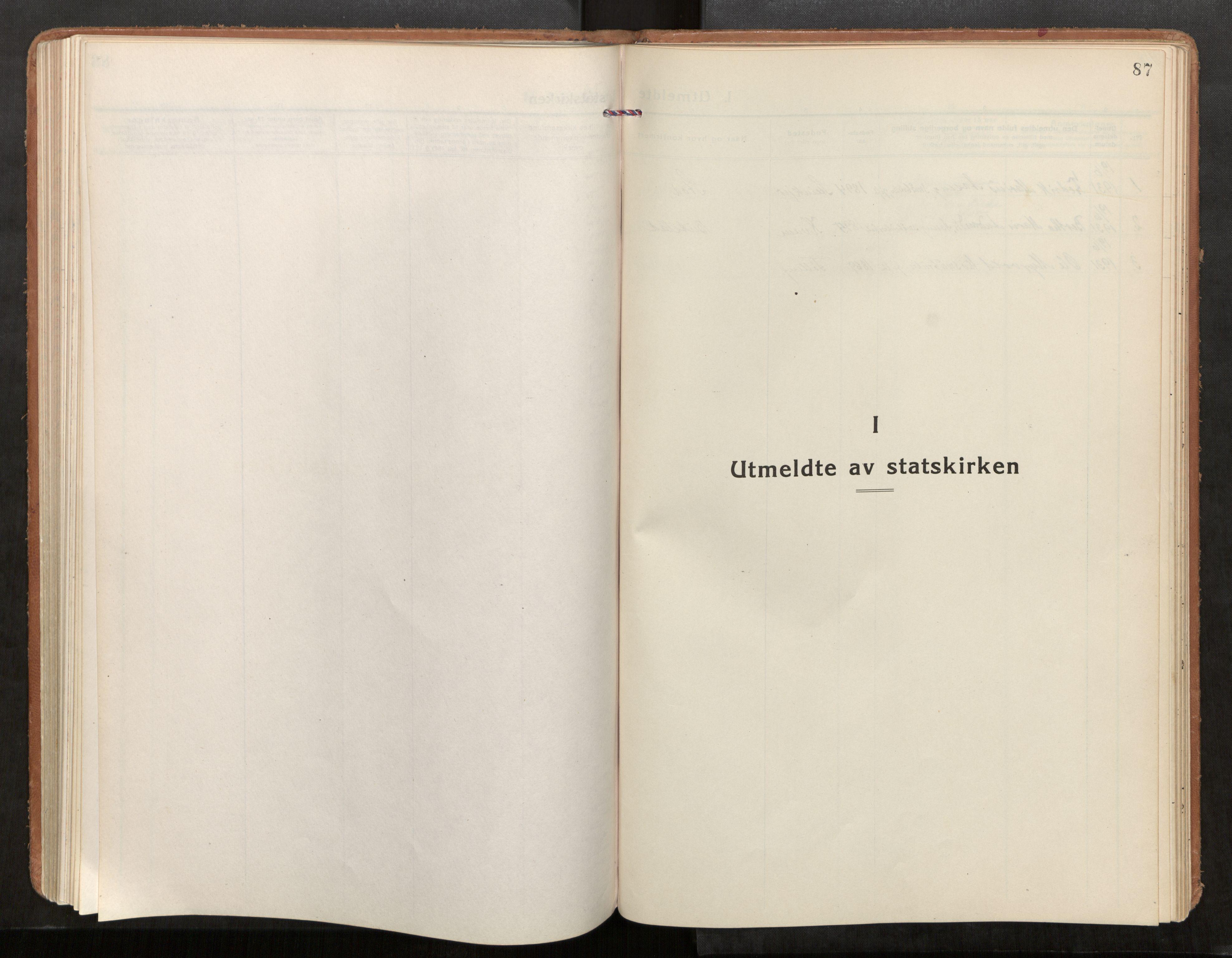 SAT, Stod sokneprestkontor, I/I1/I1a/L0005: Parish register (official) no. 5, 1923-1932, p. 87