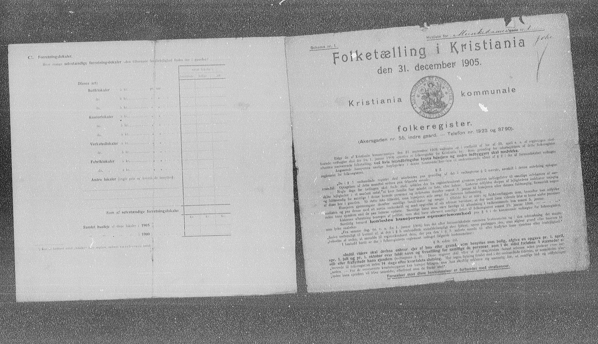 OBA, Municipal Census 1905 for Kristiania, 1905, p. 35023