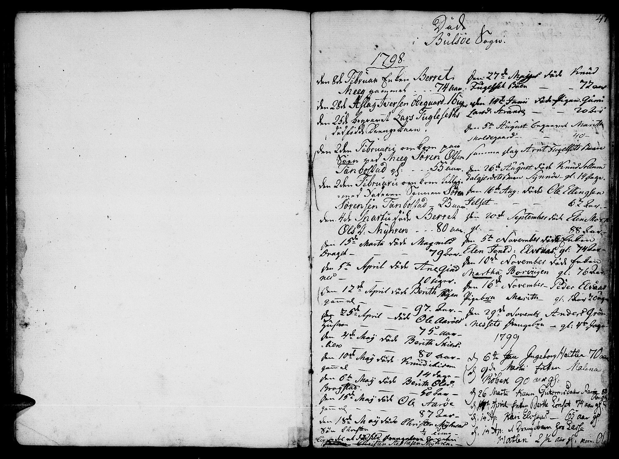 SAT, Ministerialprotokoller, klokkerbøker og fødselsregistre - Møre og Romsdal, 555/L0649: Parish register (official) no. 555A02 /1, 1795-1821, p. 47
