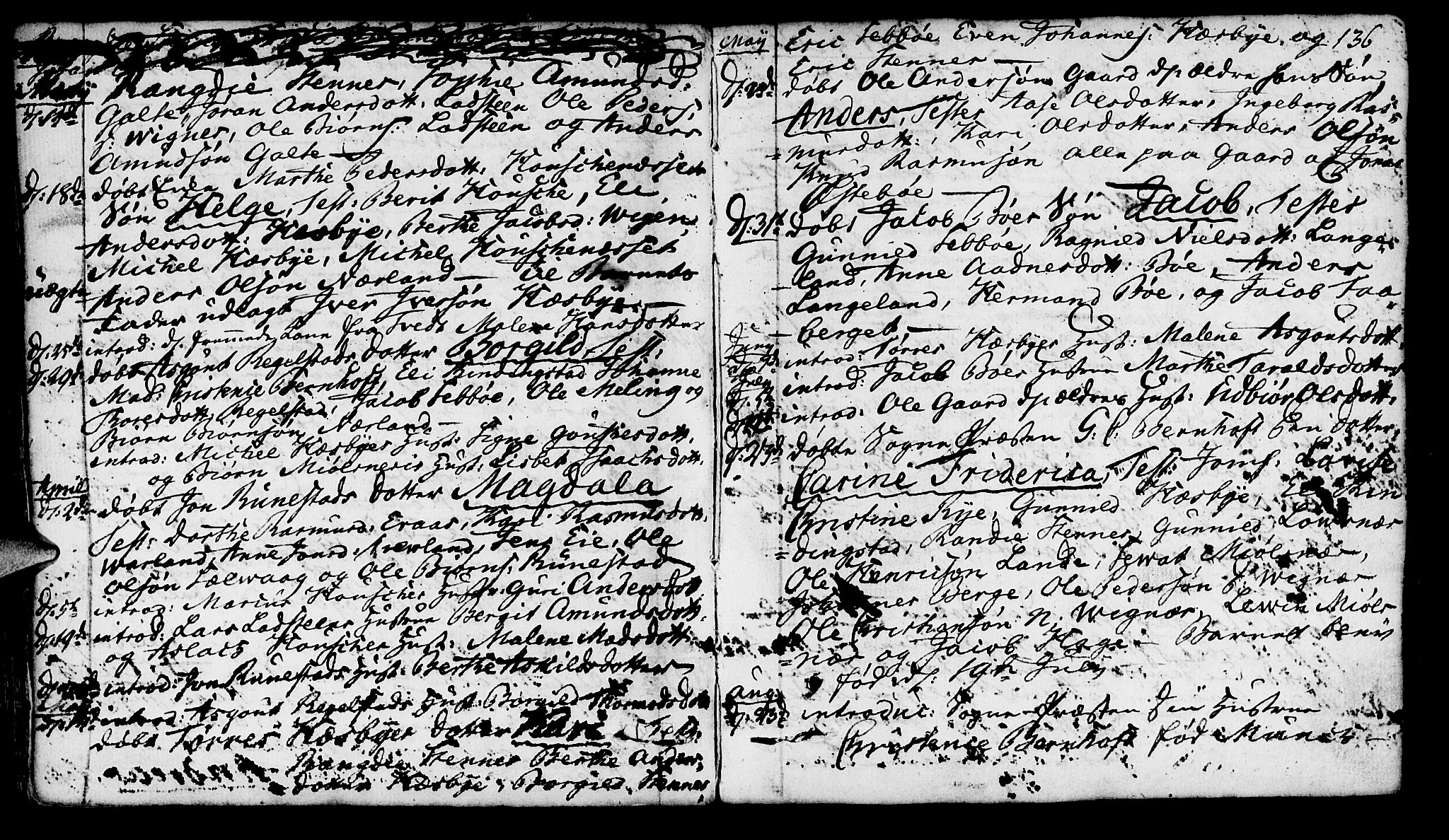 SAST, Finnøy sokneprestkontor, H/Ha/Haa/L0005: Parish register (official) no. A 5, 1773-1816, p. 136