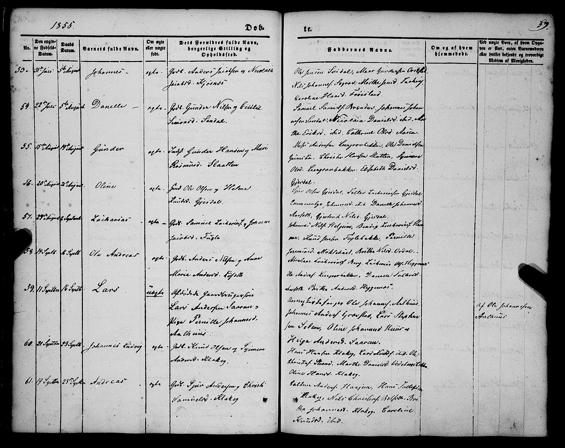SAB, Jølster Sokneprestembete, H/Haa/Haaa/L0010: Parish register (official) no. A 10, 1847-1865, p. 59