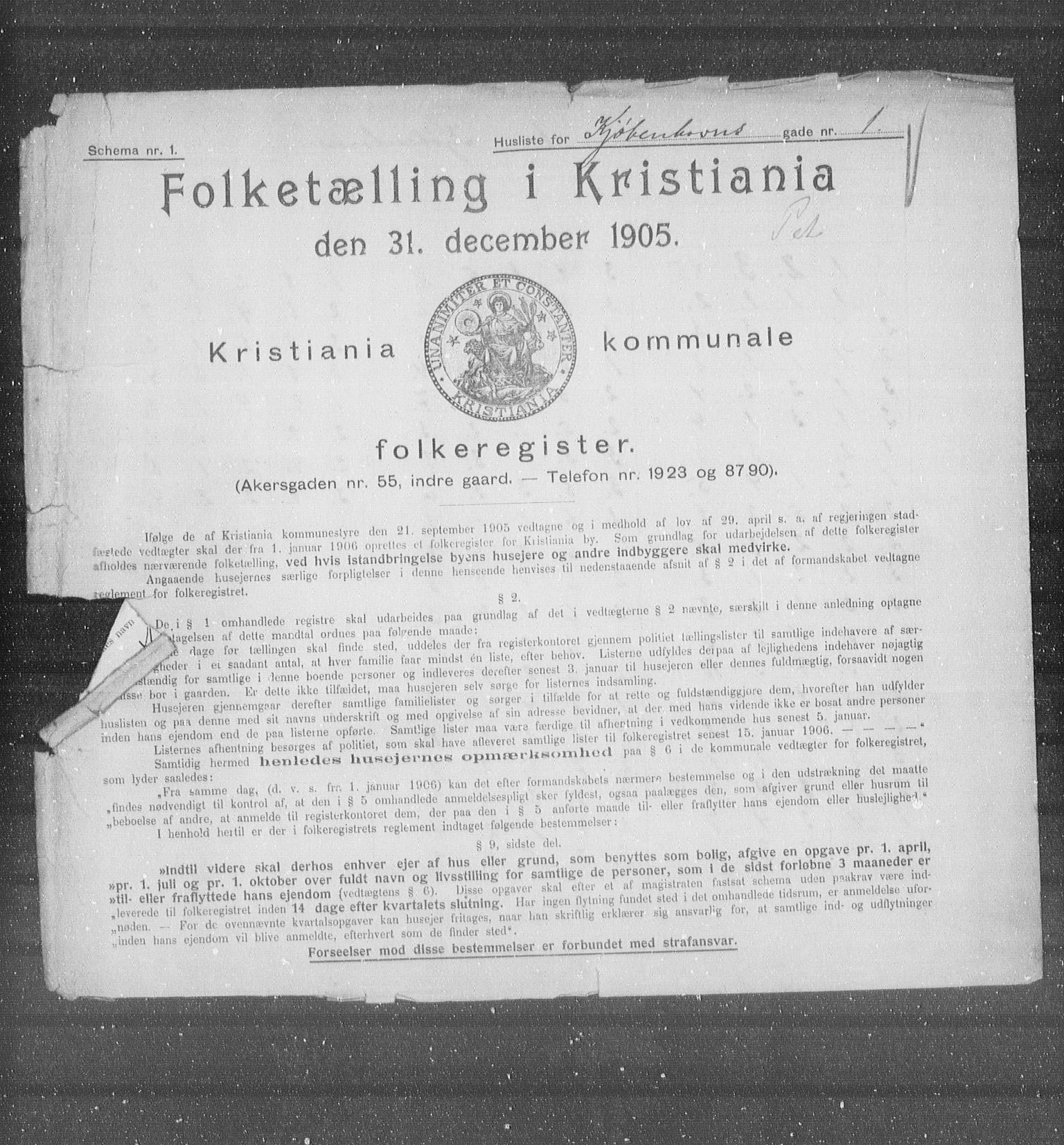 OBA, Municipal Census 1905 for Kristiania, 1905, p. 26938