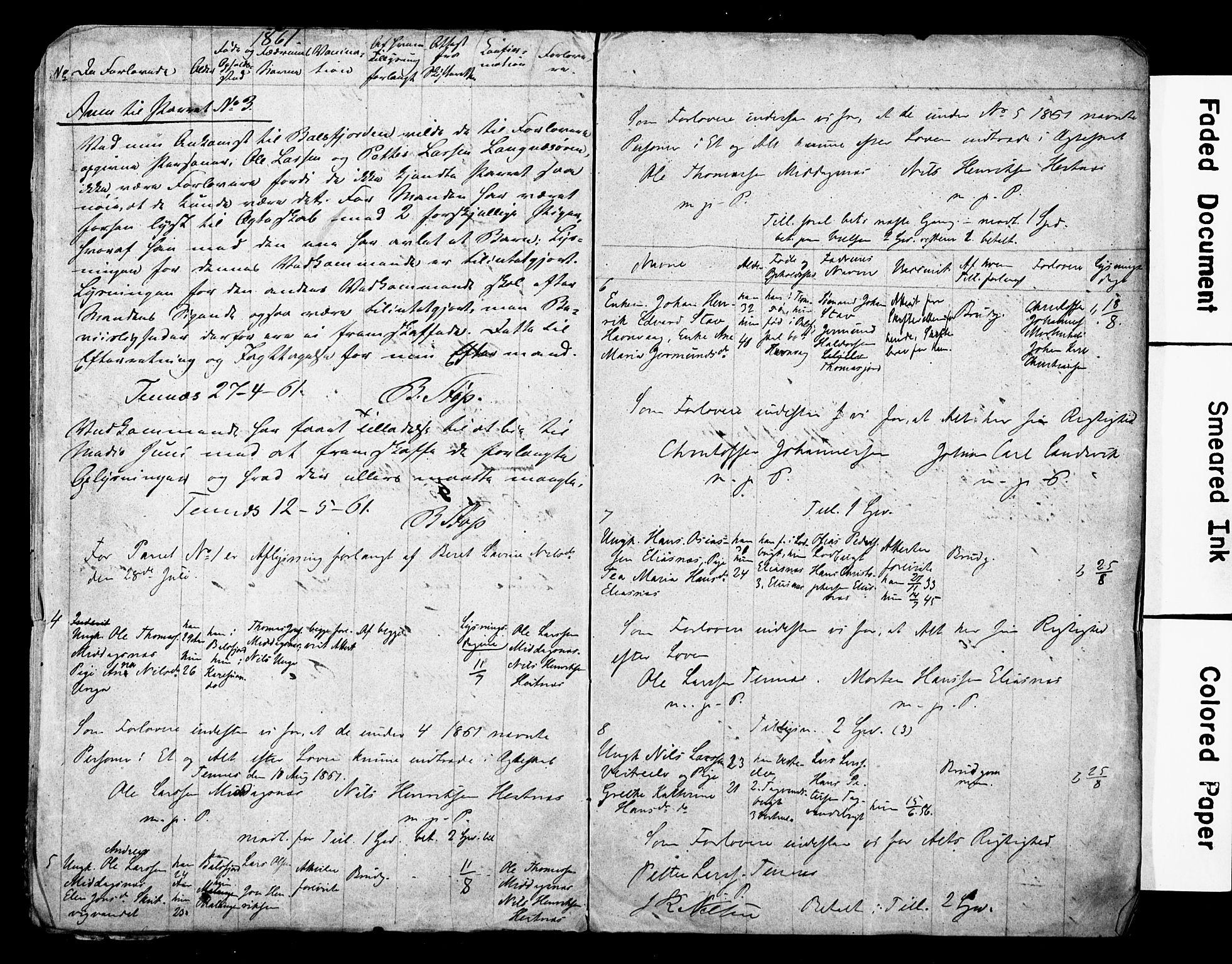 SATØ, Balsfjord sokneprestembete, H/Hd/L0028: Banns register no. 28, 1858-1867