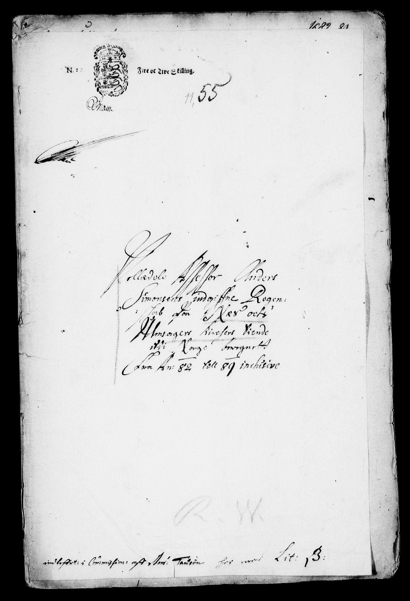 RA, Danske Kanselli, Skapsaker, G/L0019: Tillegg til skapsakene, 1616-1753, p. 243