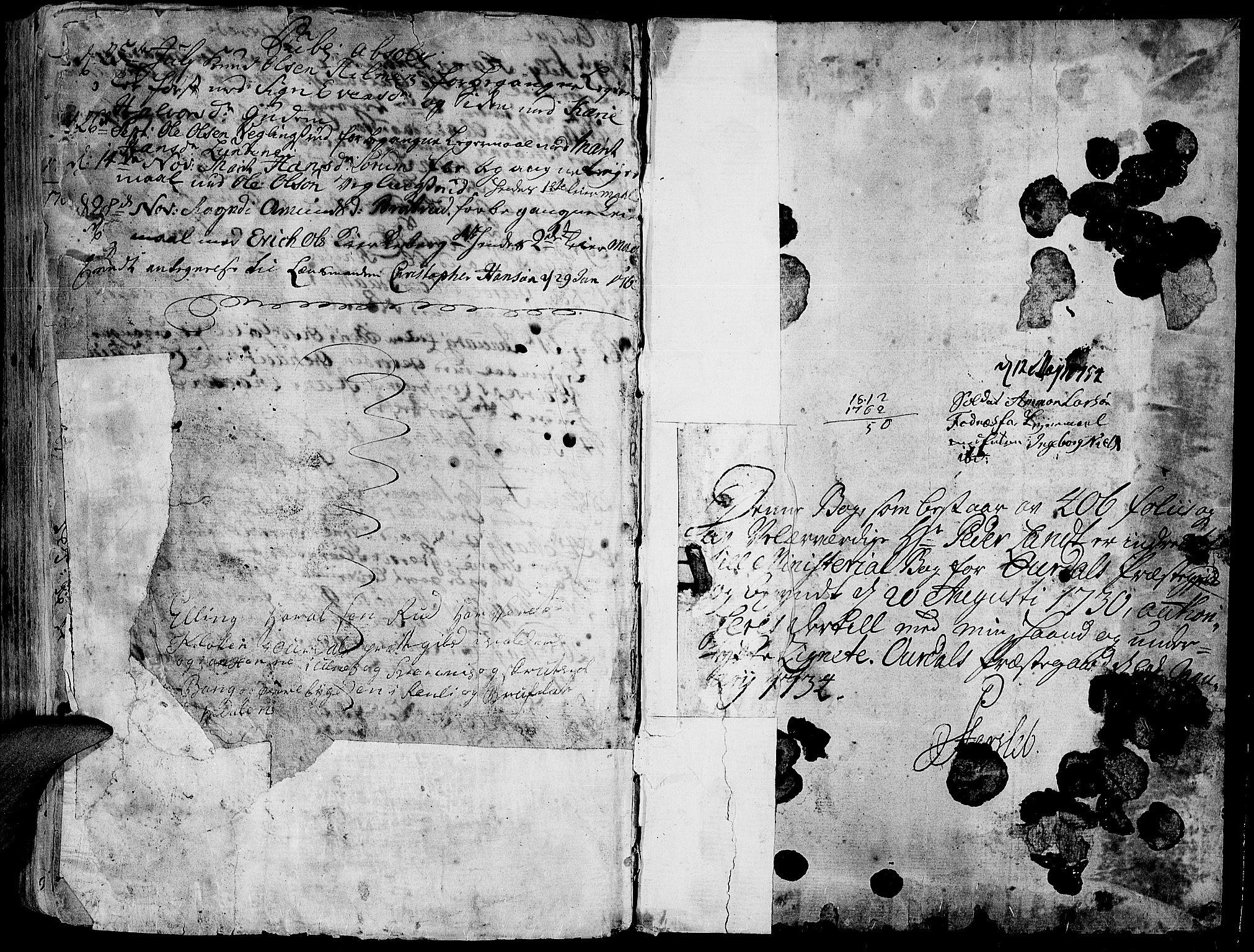 SAH, Aurdal prestekontor, Parish register (official) no. 4, 1730-1762, p. 32-33