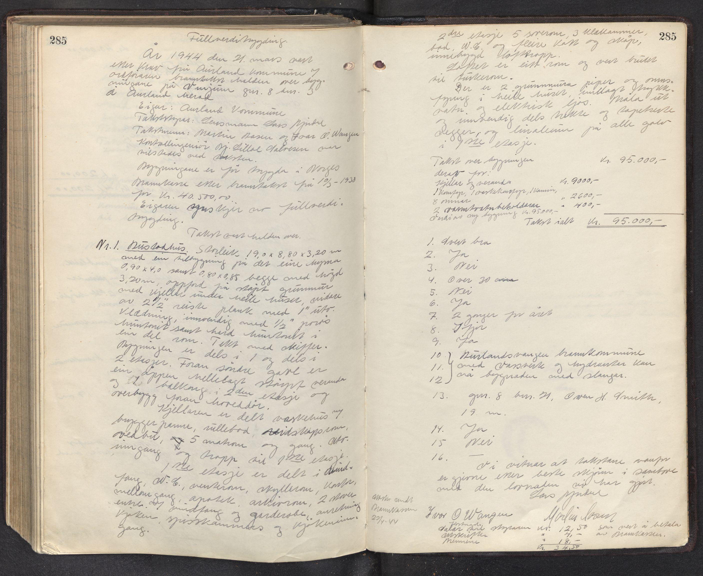 SAB, Lensmannen i Aurland, 0012/L0003: Branntakstprotokoll, 1917-1944, p. 285