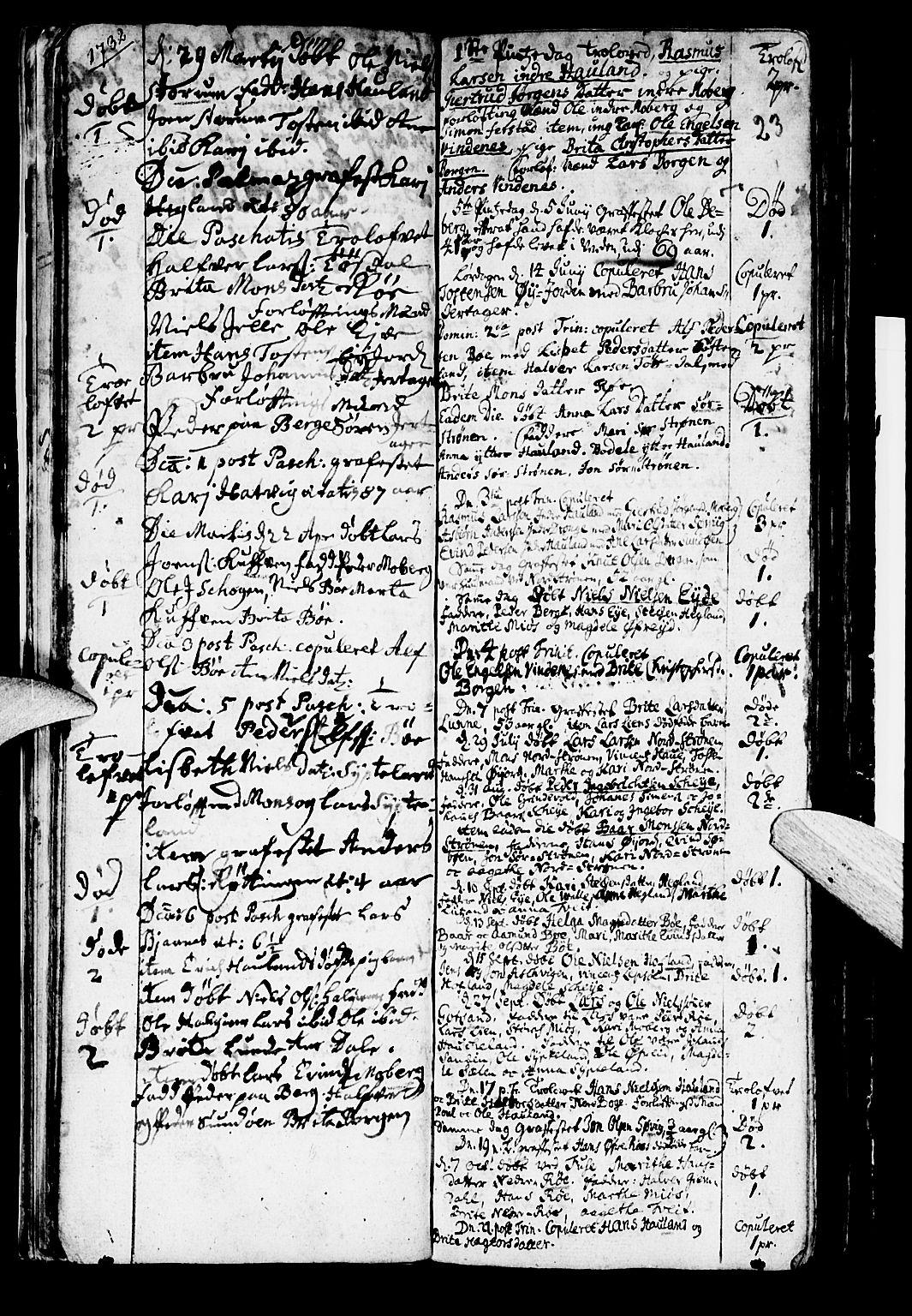 SAB, Os sokneprestembete*, Parish register (official) no. A 2, 1723-1758, p. 23