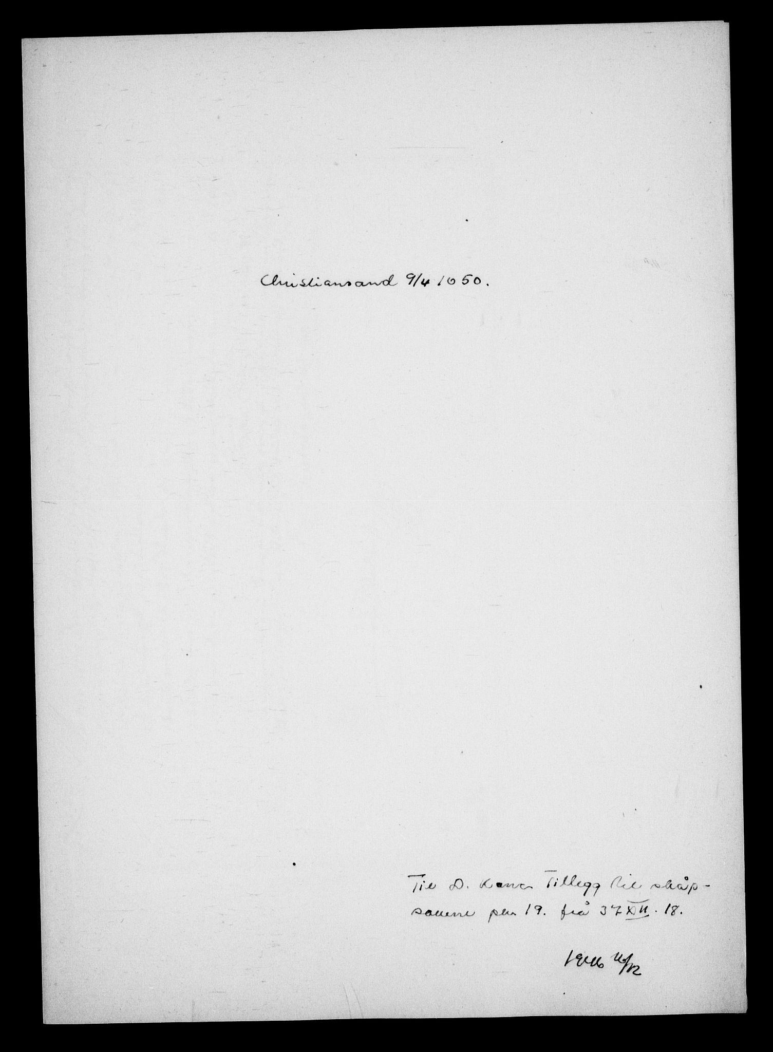 RA, Danske Kanselli, Skapsaker, G/L0019: Tillegg til skapsakene, 1616-1753, p. 138