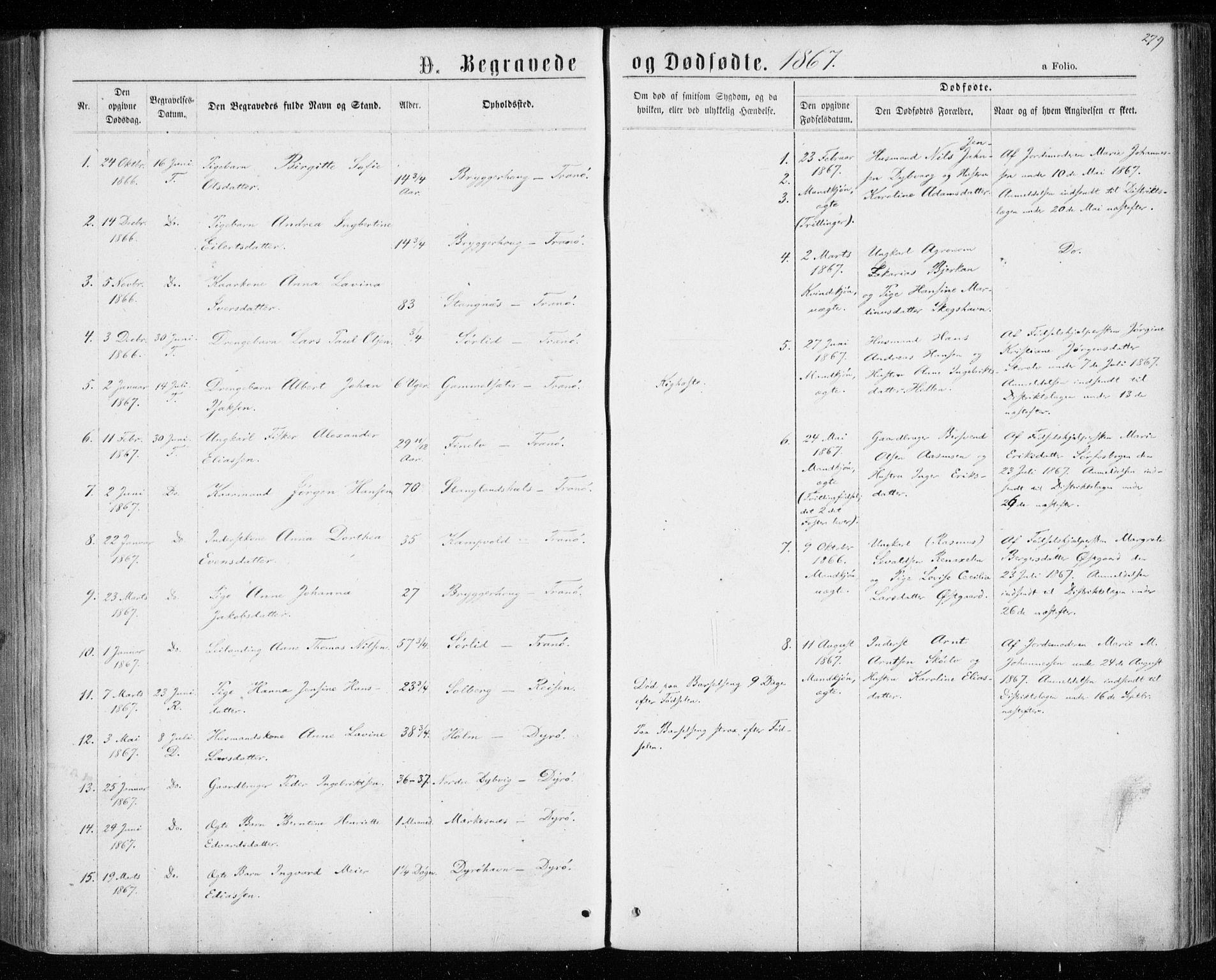 SATØ, Tranøy sokneprestkontor, I/Ia/Iaa/L0008kirke: Parish register (official) no. 8, 1867-1877, p. 279