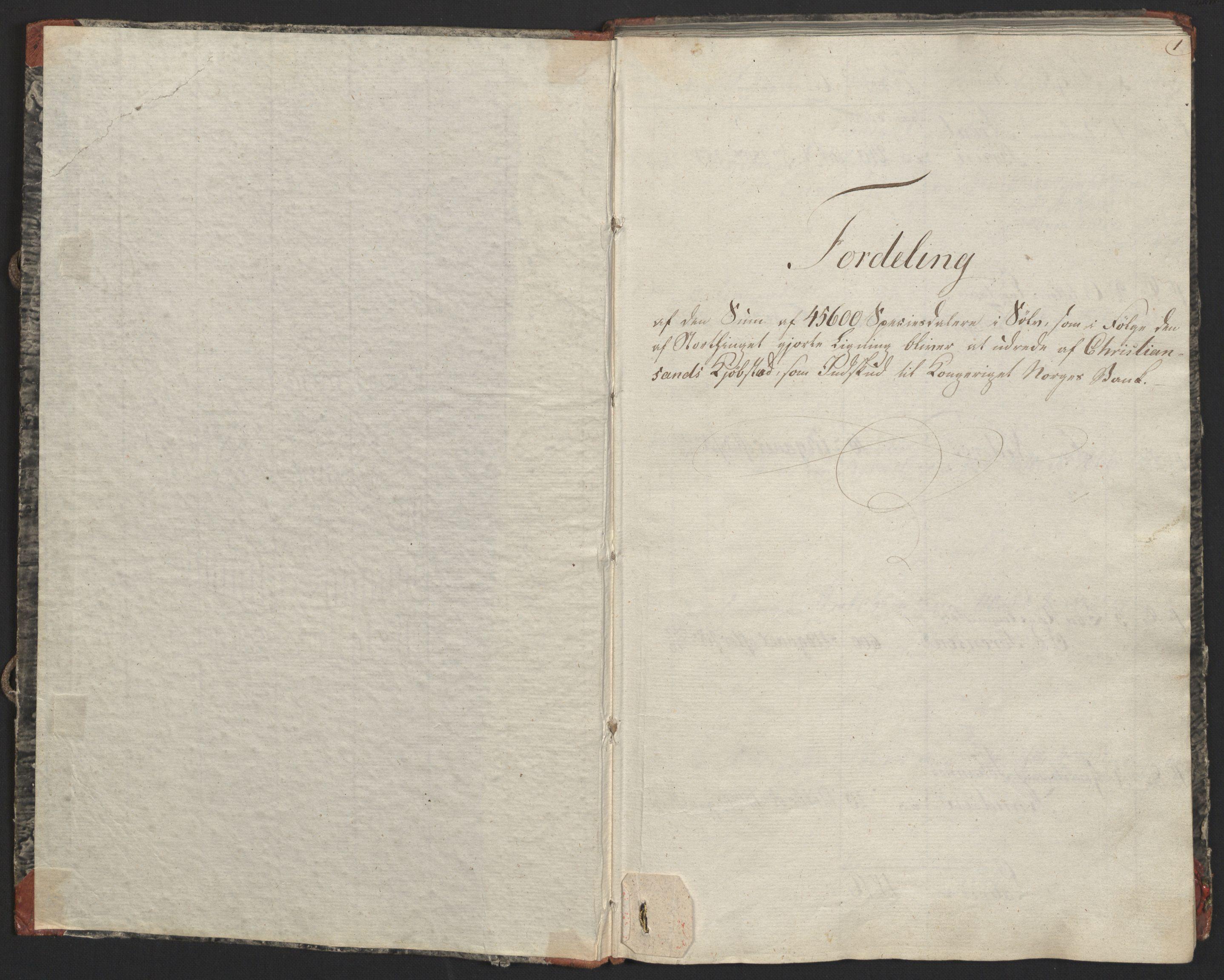 NOBA, Norges Bank/Sølvskatten 1816*, 1816-1823, p. 3