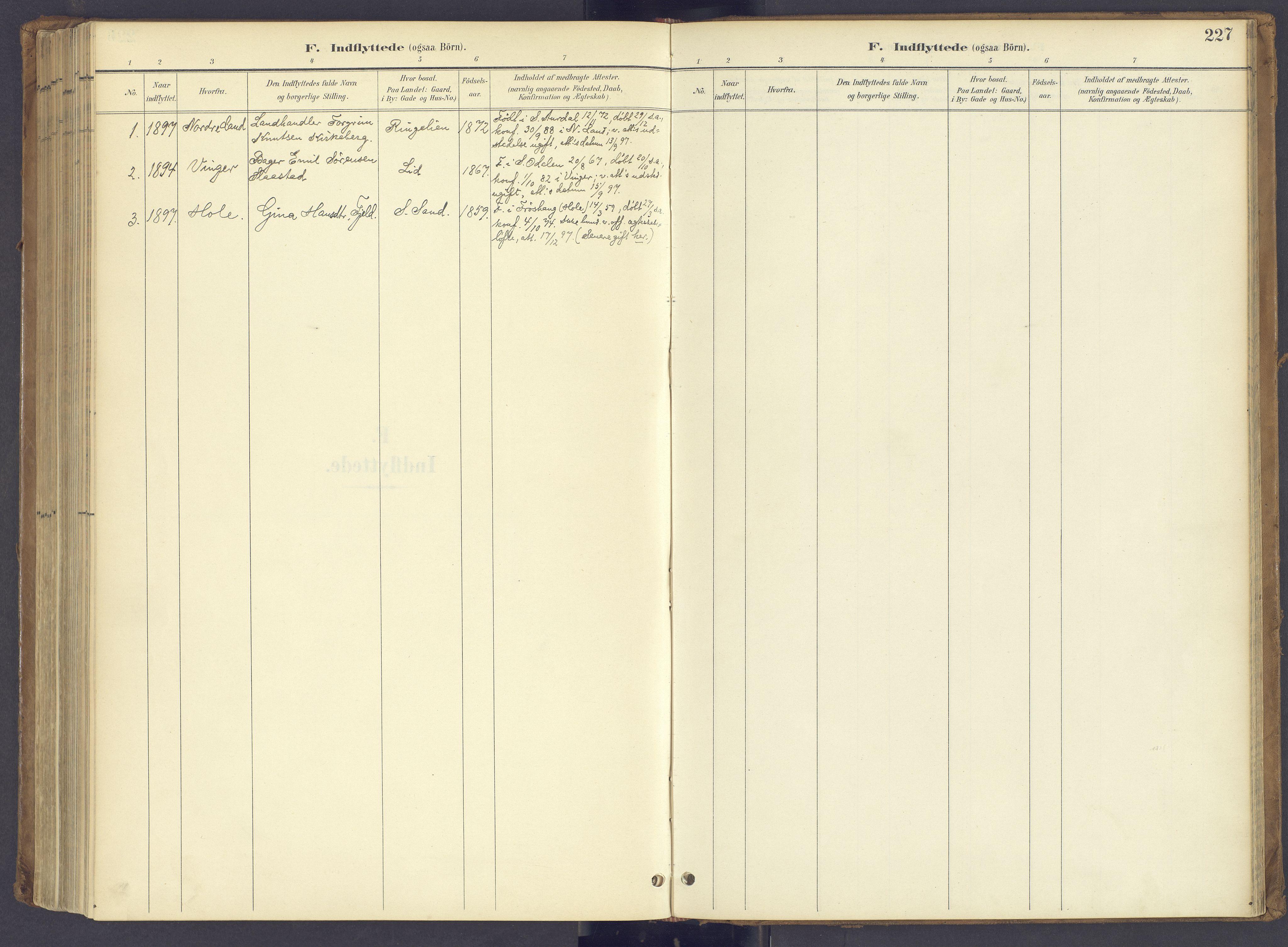 SAH, Søndre Land prestekontor, K/L0006: Parish register (official) no. 6, 1895-1904, p. 227
