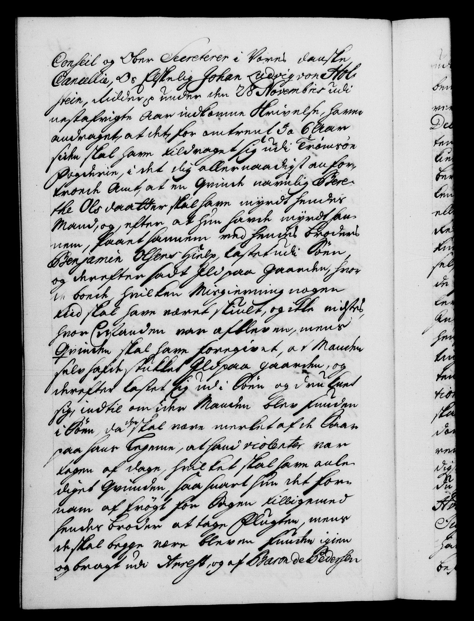 RA, Danske Kanselli 1572-1799, F/Fc/Fca/Fcab/L0028: Norske tegnelser, 1738-1740, p. 214b