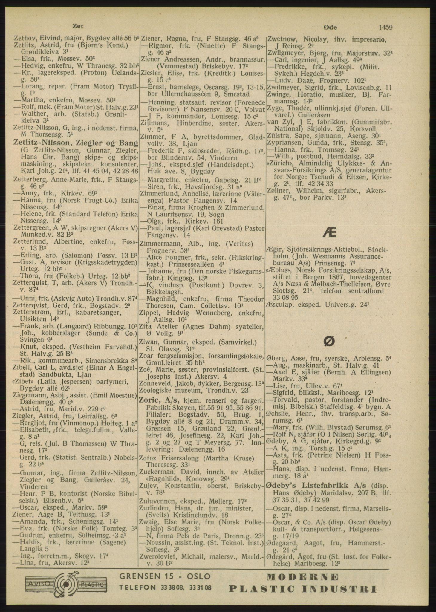 PUBL, Kristiania/Oslo adressebok, 1948, p. 1459
