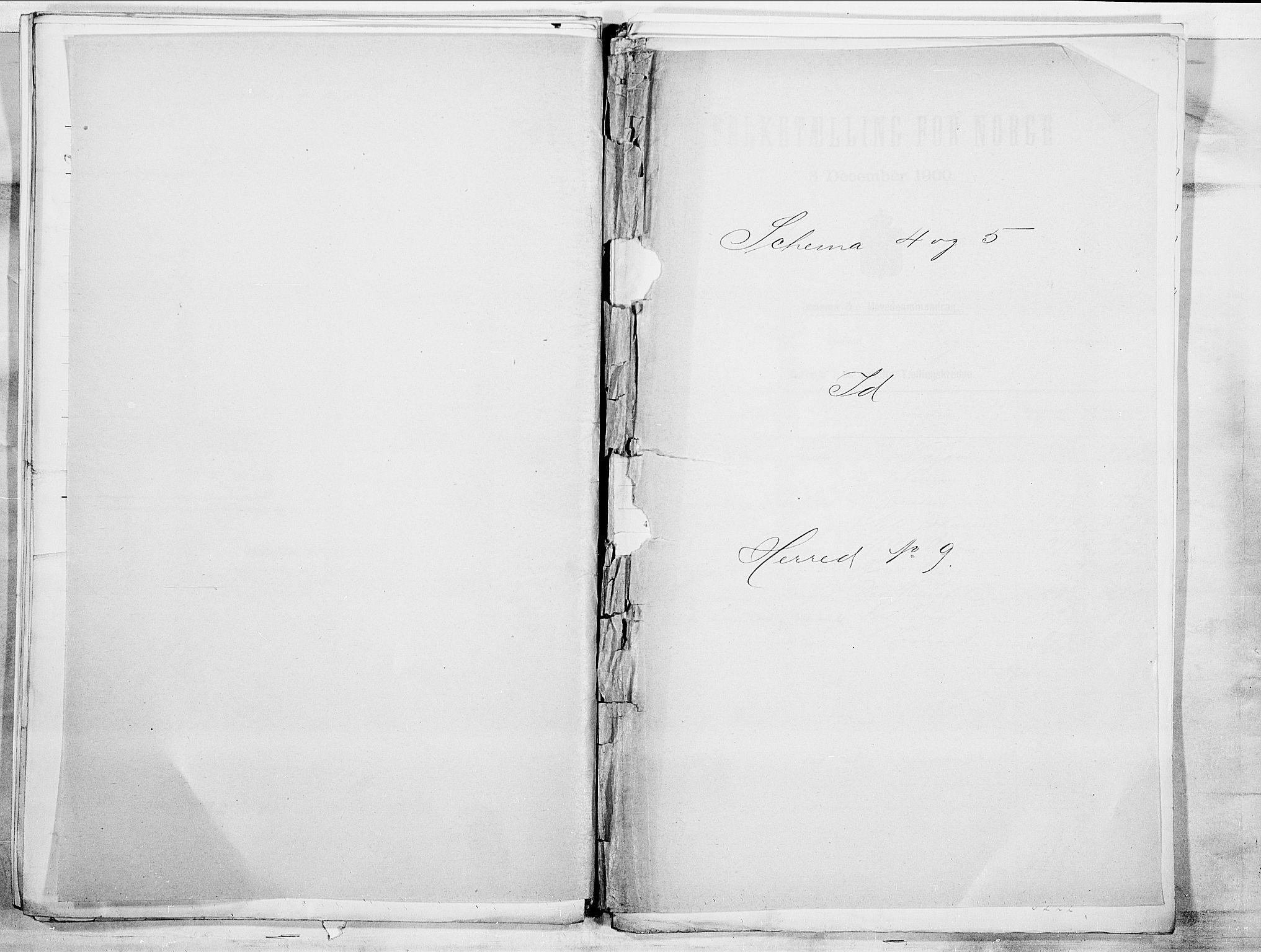 SAO, 1900 census for Idd, 1900, p. 1