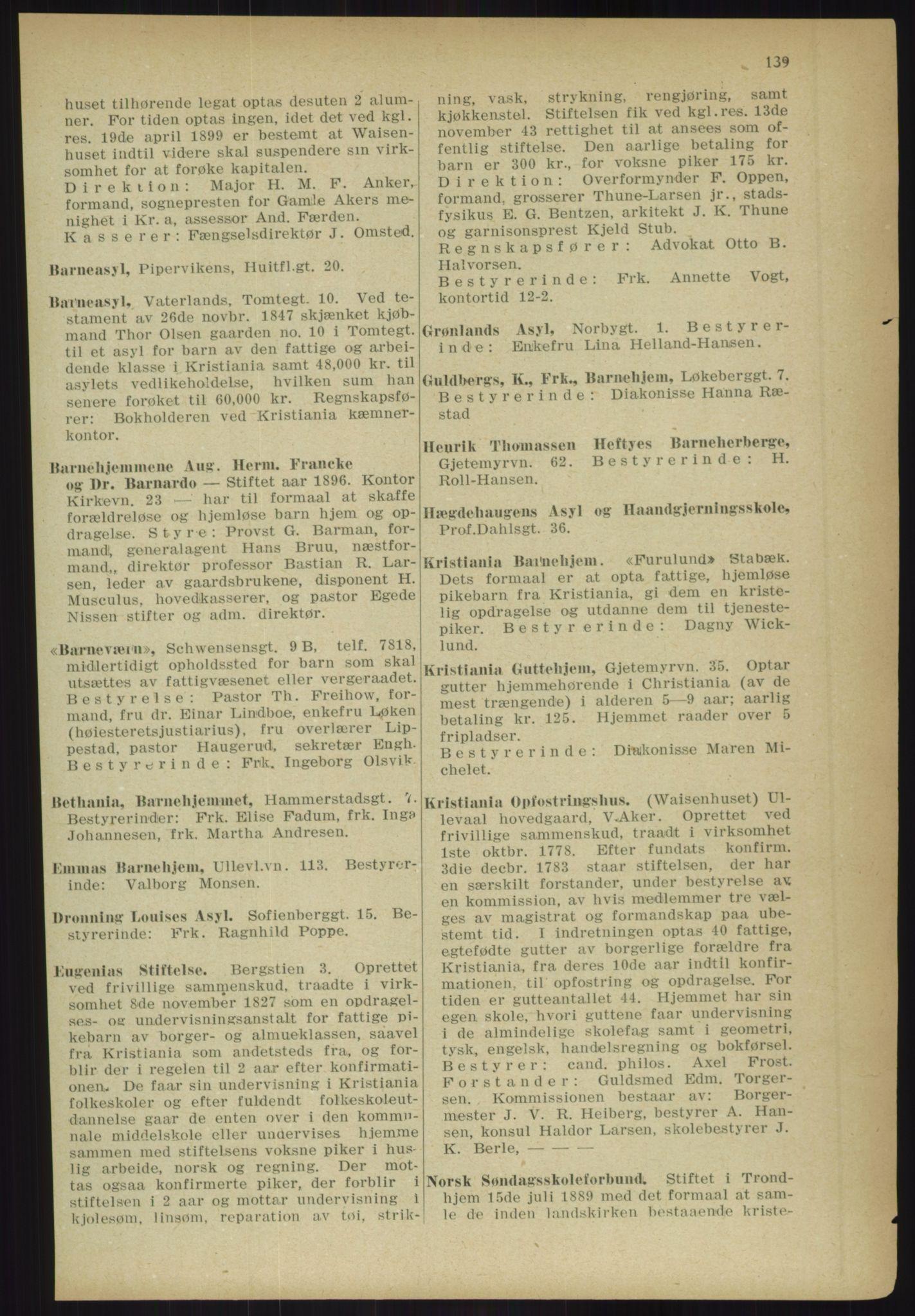 PUBL, Kristiania/Oslo adressebok, 1918, p. 152