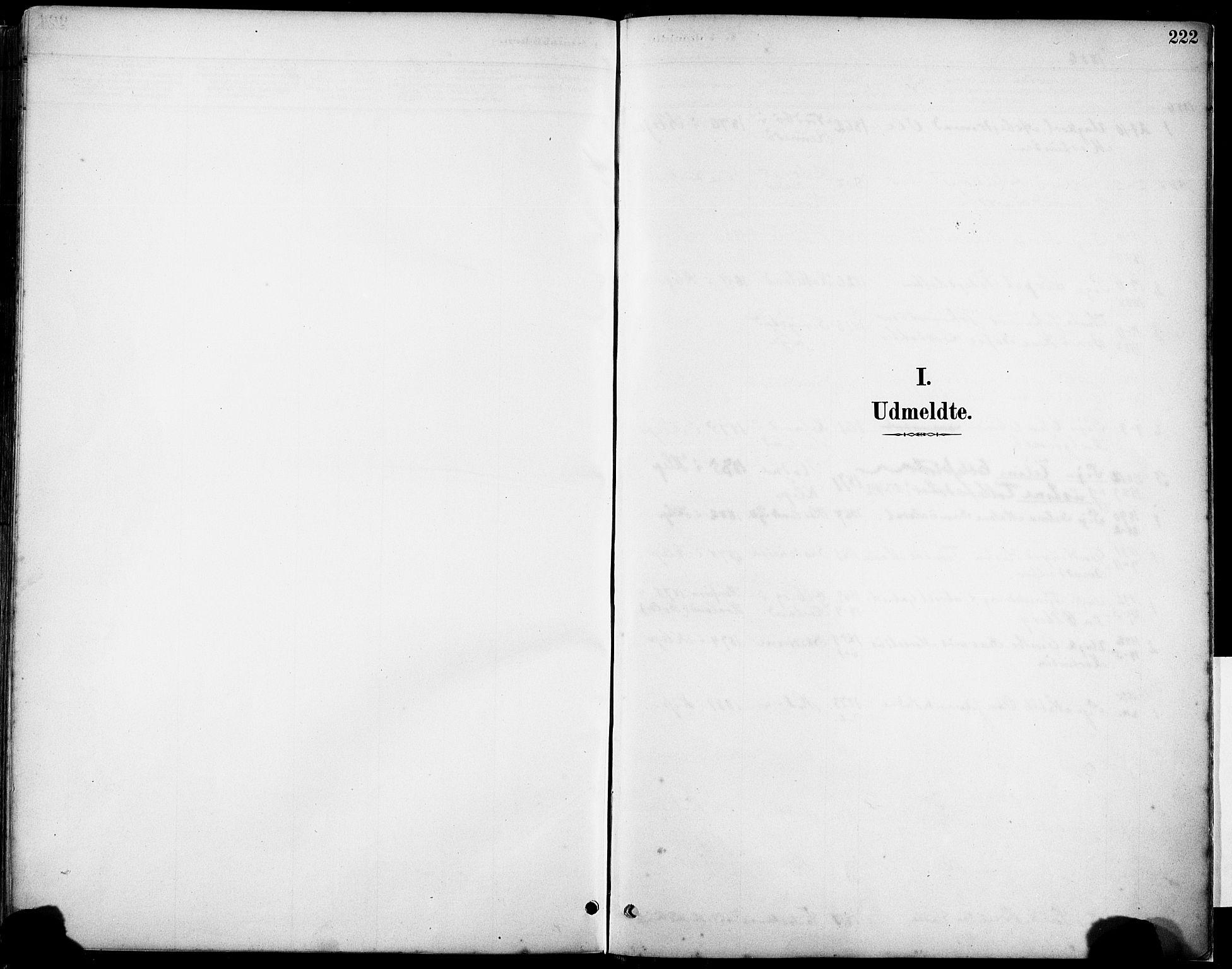 SAST, Klepp sokneprestkontor, 30BA/L0008: Parish register (official) no. A 9, 1886-1919, p. 222