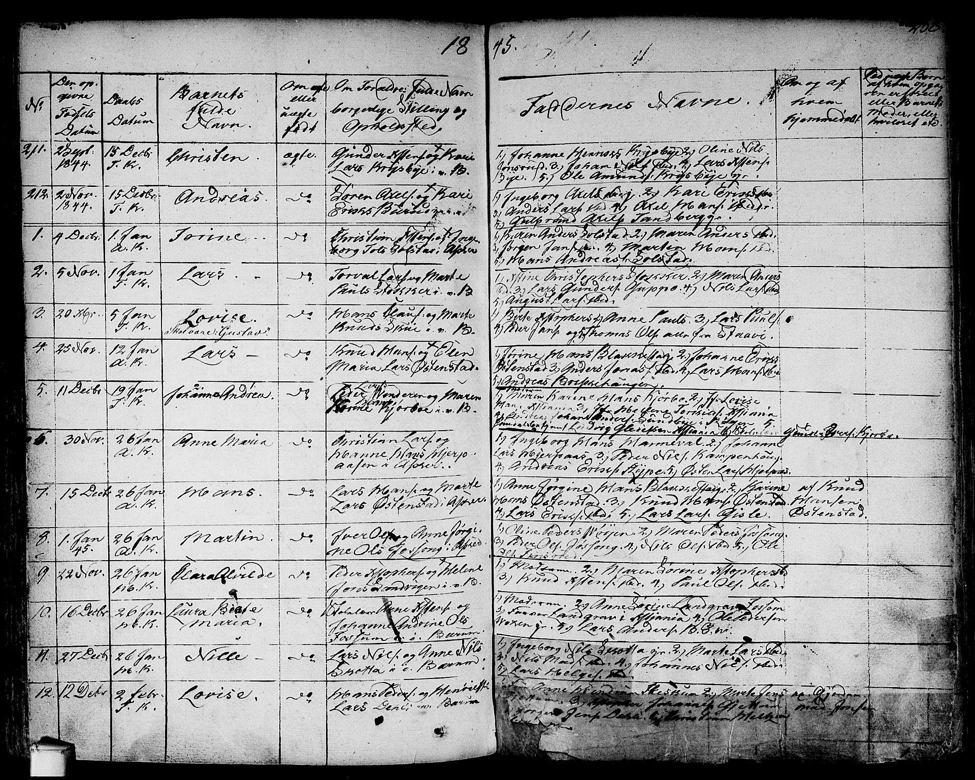 SAO, Asker prestekontor Kirkebøker, F/Fa/L0007: Parish register (official) no. I 7, 1825-1864, p. 238