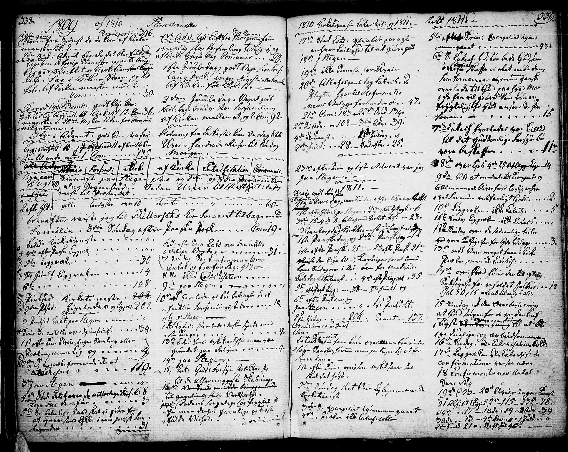 SAT, Ministerialprotokoller, klokkerbøker og fødselsregistre - Nordland, 859/L0841: Parish register (official) no. 859A01, 1766-1821, p. 338-339