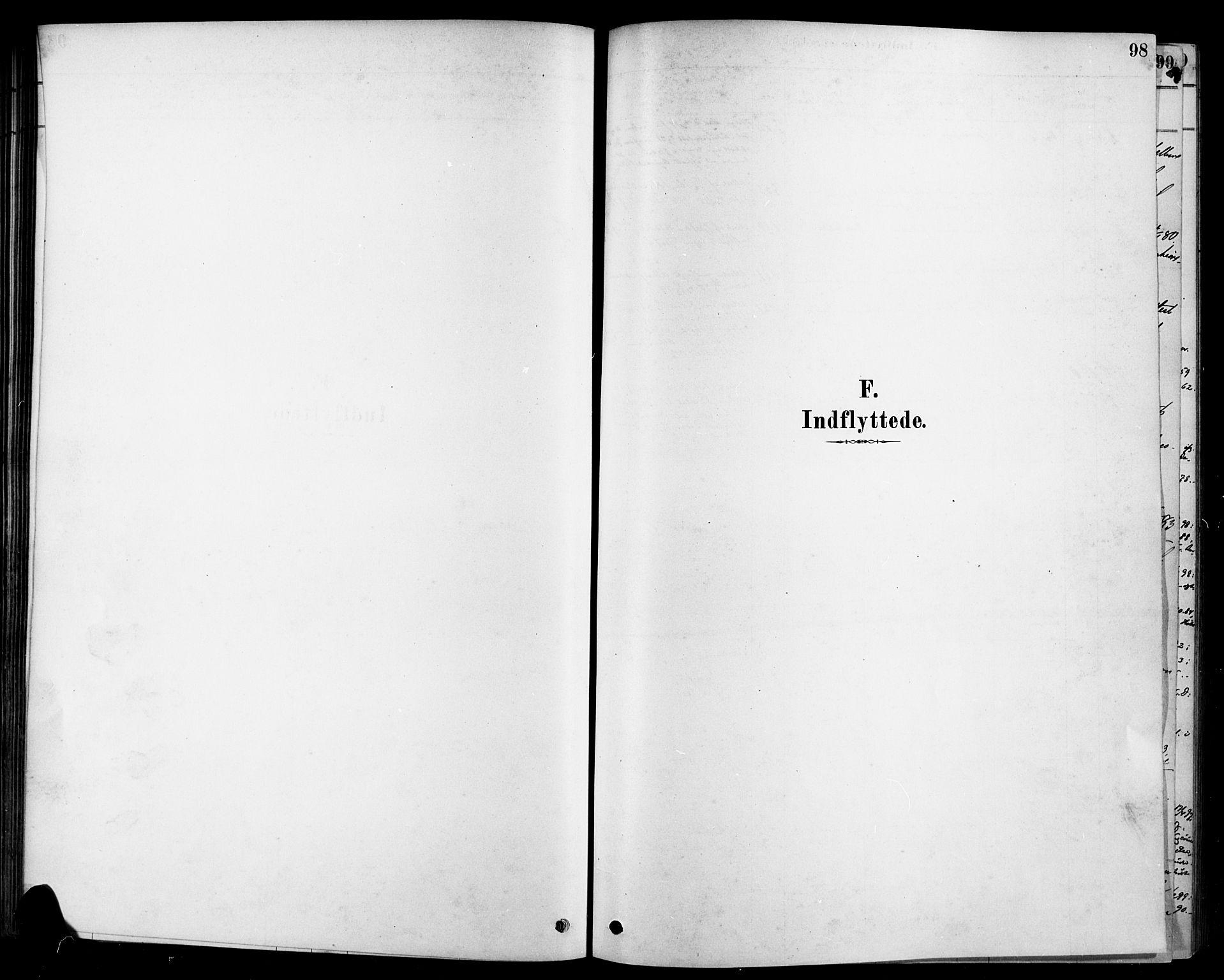 SAKO, Heddal kirkebøker, F/Fa/L0009: Parish register (official) no. I 9, 1878-1903, p. 98