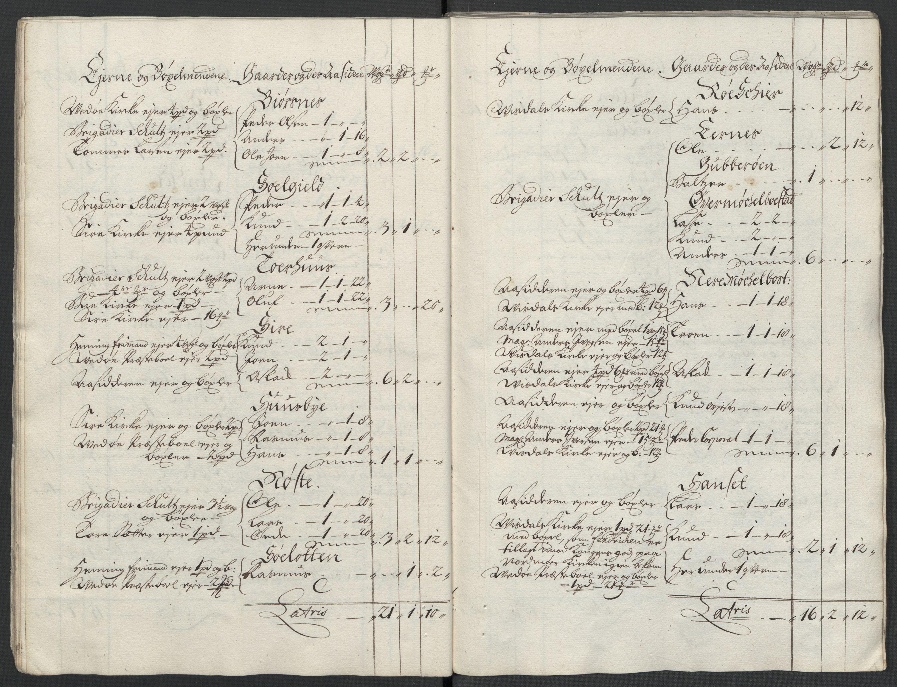 RA, Rentekammeret inntil 1814, Reviderte regnskaper, Fogderegnskap, R55/L3658: Fogderegnskap Romsdal, 1707-1708, p. 30