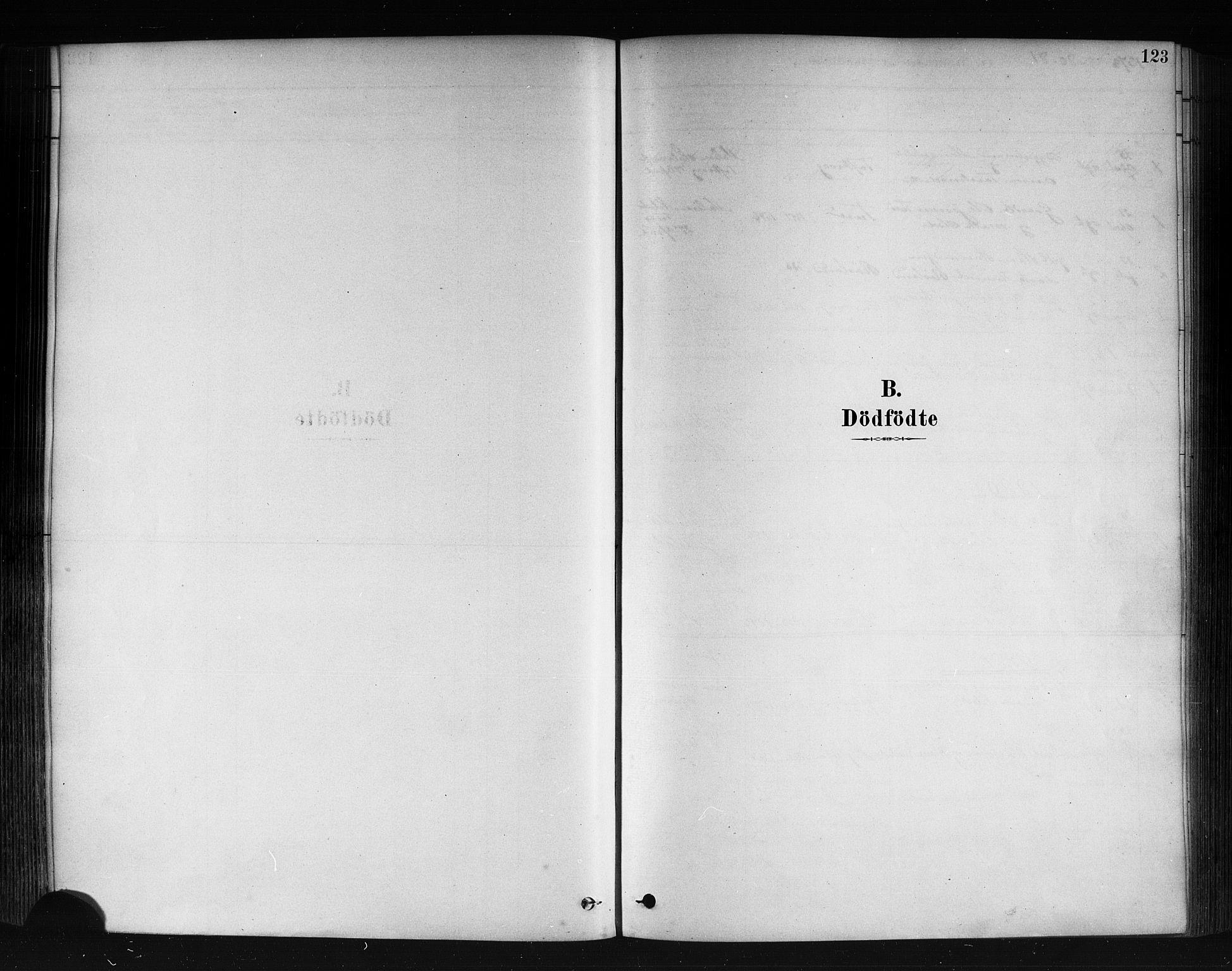 SAB, Herdla Sokneprestembete, H/Haa: Parish register (official) no. A 3, 1878-1890, p. 123