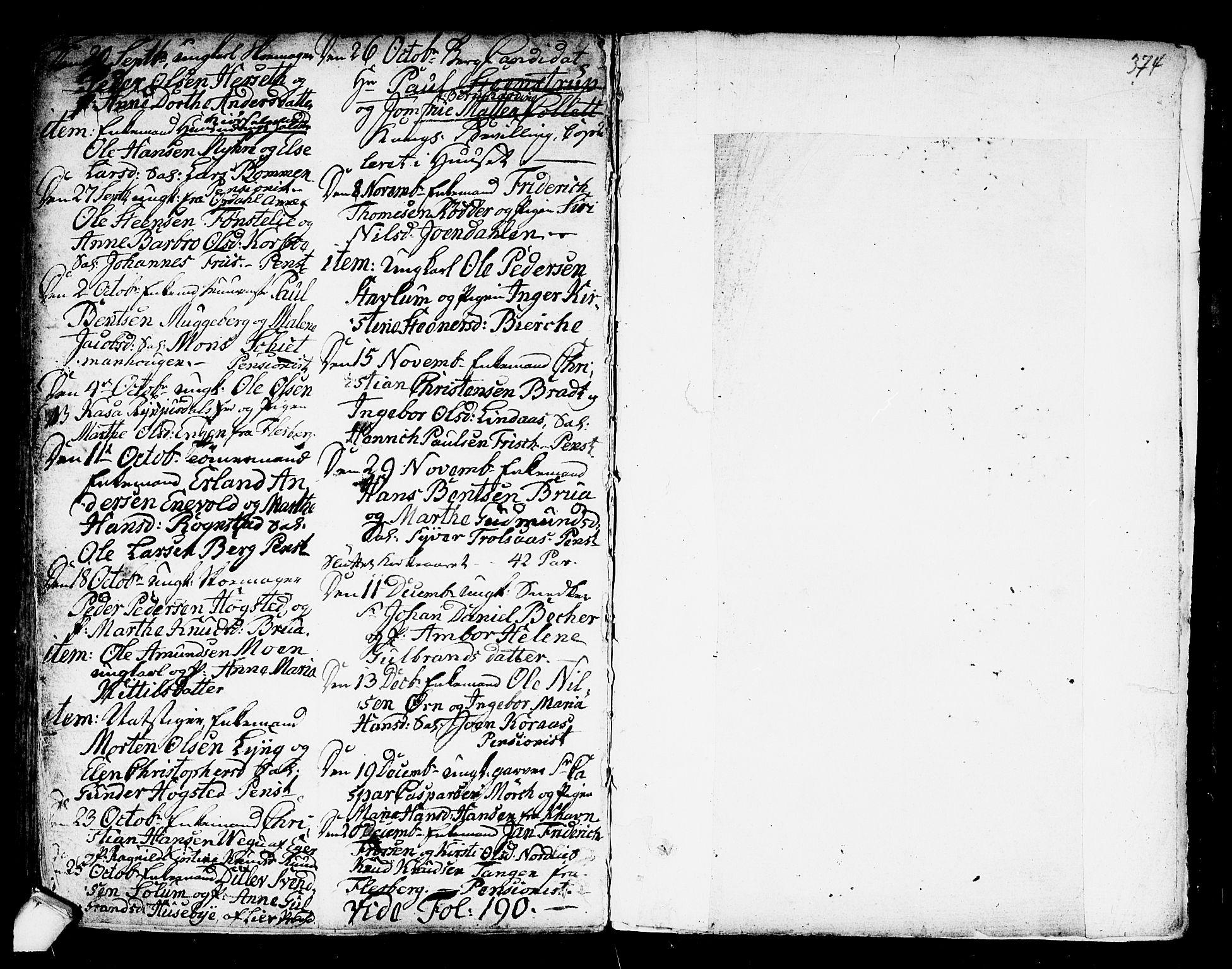 SAKO, Kongsberg kirkebøker, F/Fa/L0007: Parish register (official) no. I 7, 1795-1816, p. 374