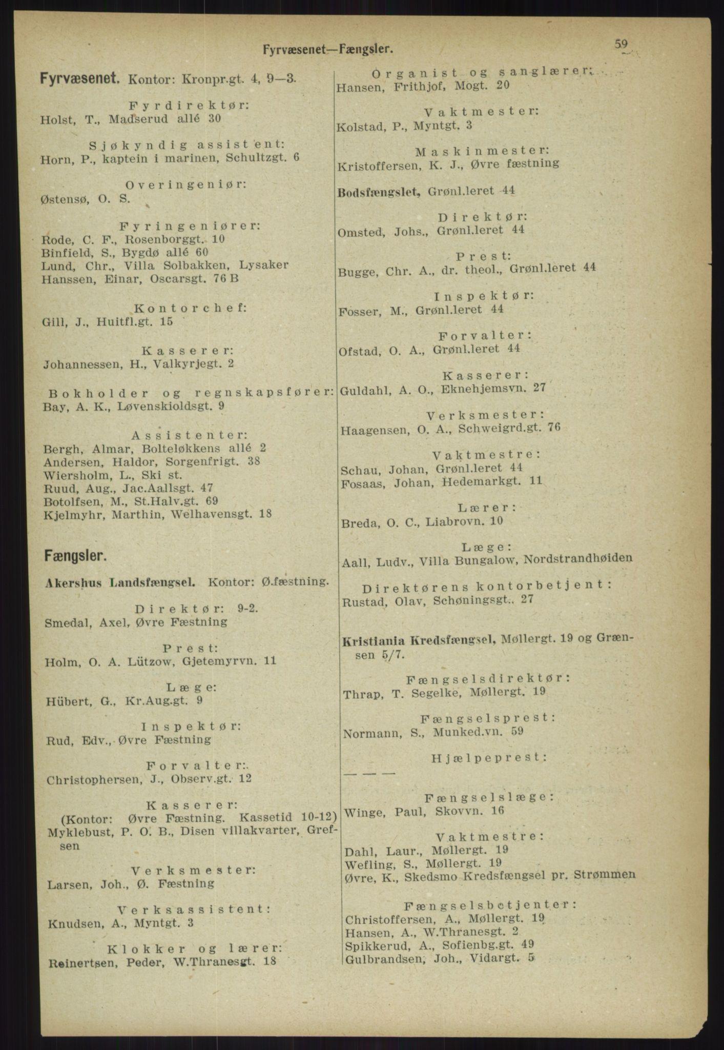 PUBL, Kristiania/Oslo adressebok, 1918, p. 66