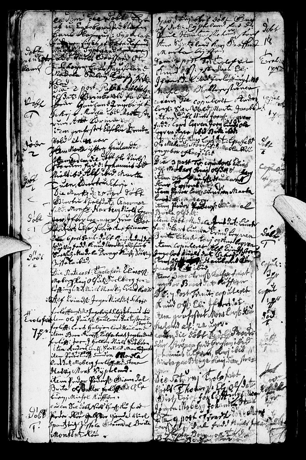 SAB, Os sokneprestembete*, Parish register (official) no. A 2, 1723-1758, p. 18
