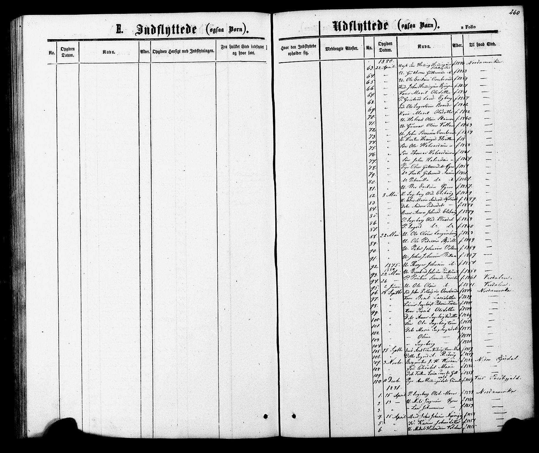 SAT, Ministerialprotokoller, klokkerbøker og fødselsregistre - Nord-Trøndelag, 706/L0049: Parish register (copy) no. 706C01, 1864-1895, p. 260