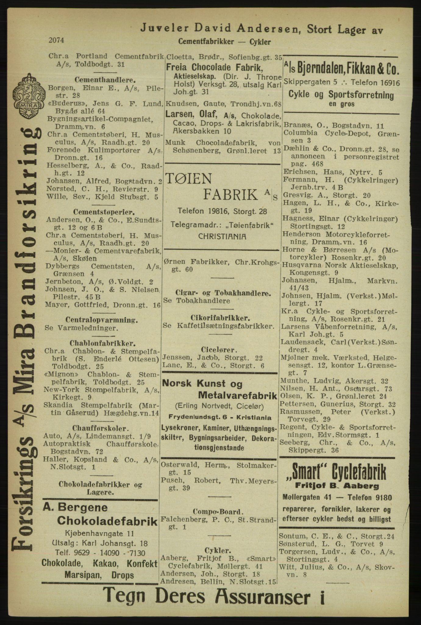 PUBL, Kristiania/Oslo adressebok, 1918, p. 2227