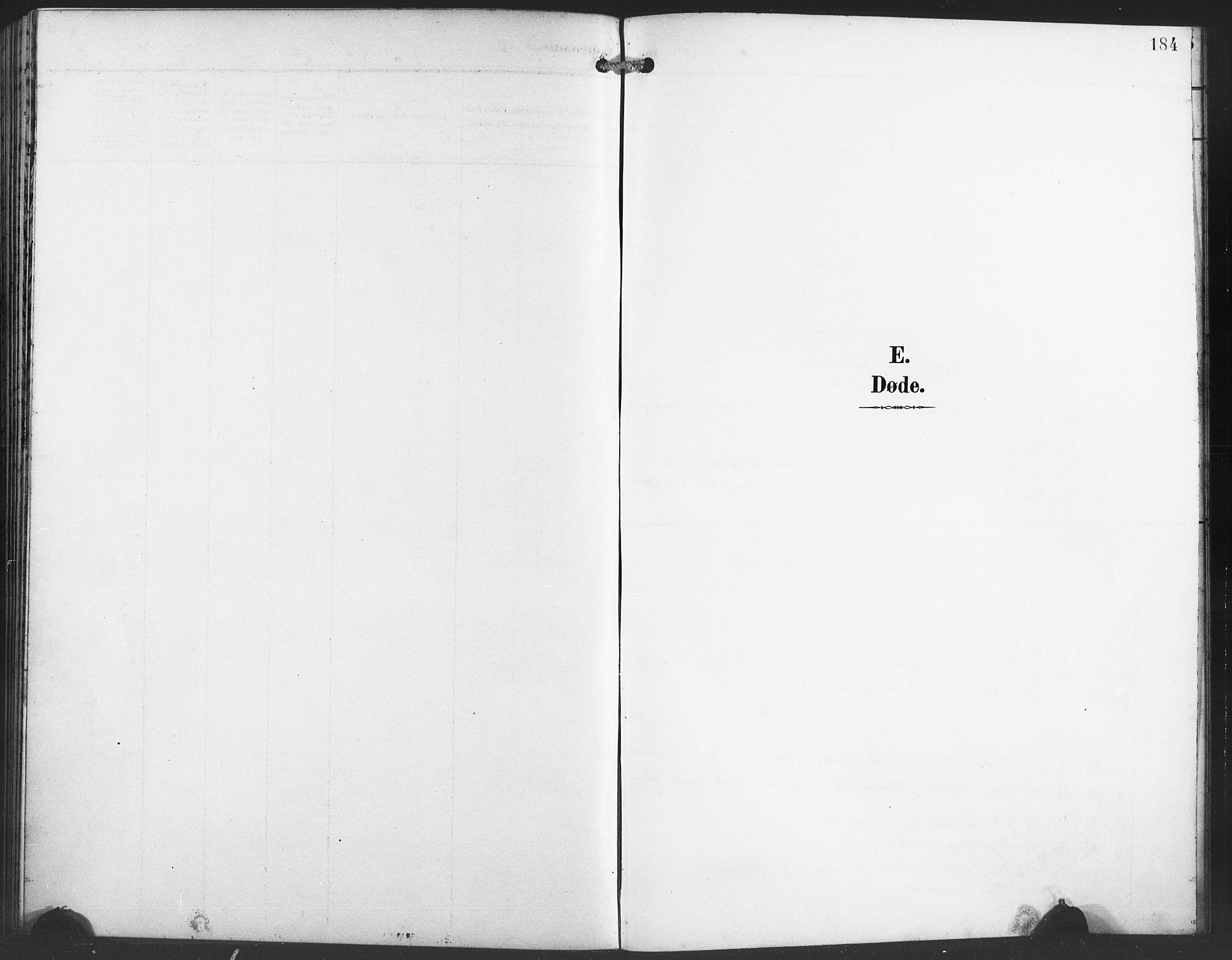 SAB, Evanger sokneprestembete*, Parish register (copy) no. A 5, 1897-1917, p. 184